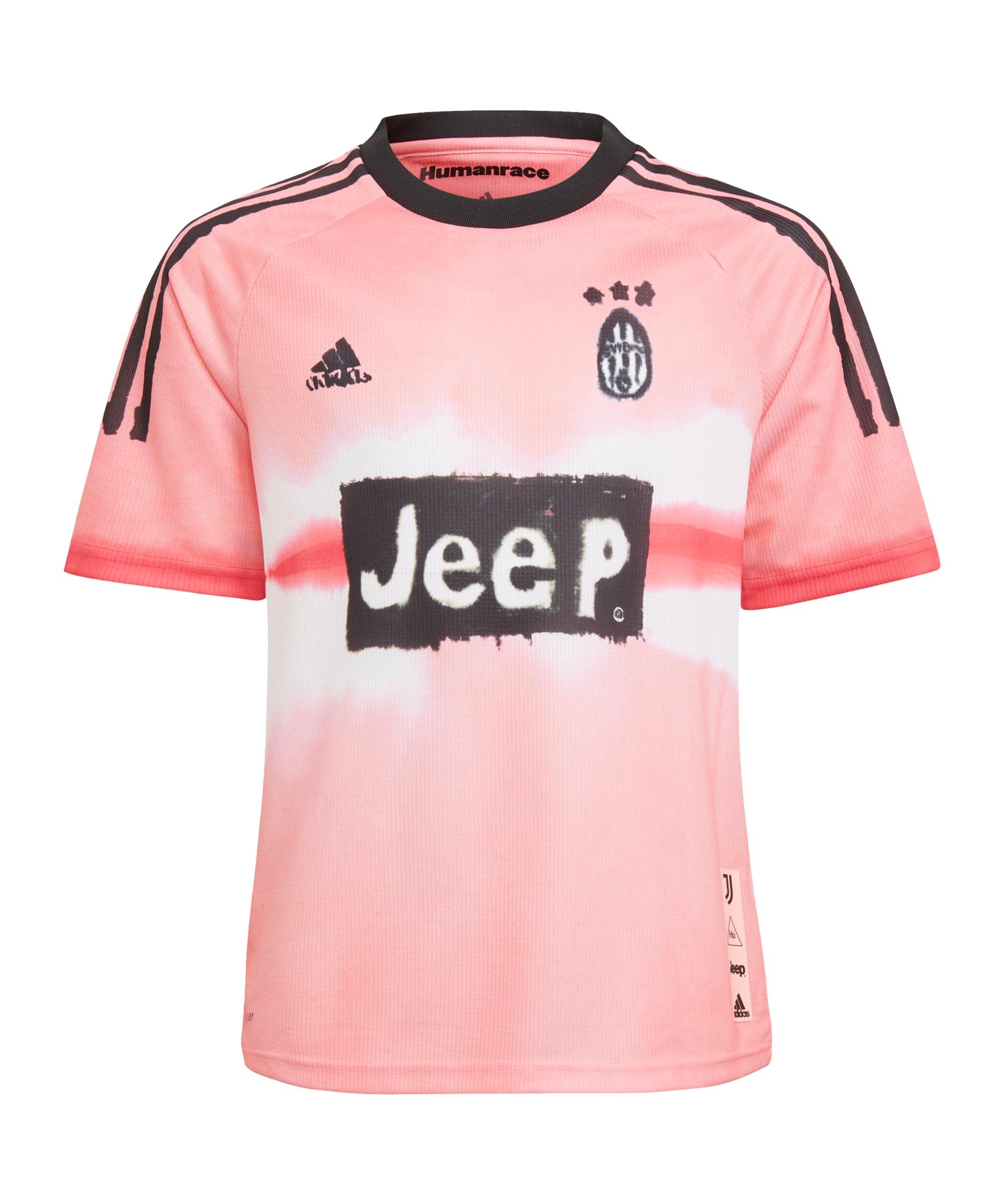 adidas Juventus Turin Human Race Trikot Kids Pink - pink