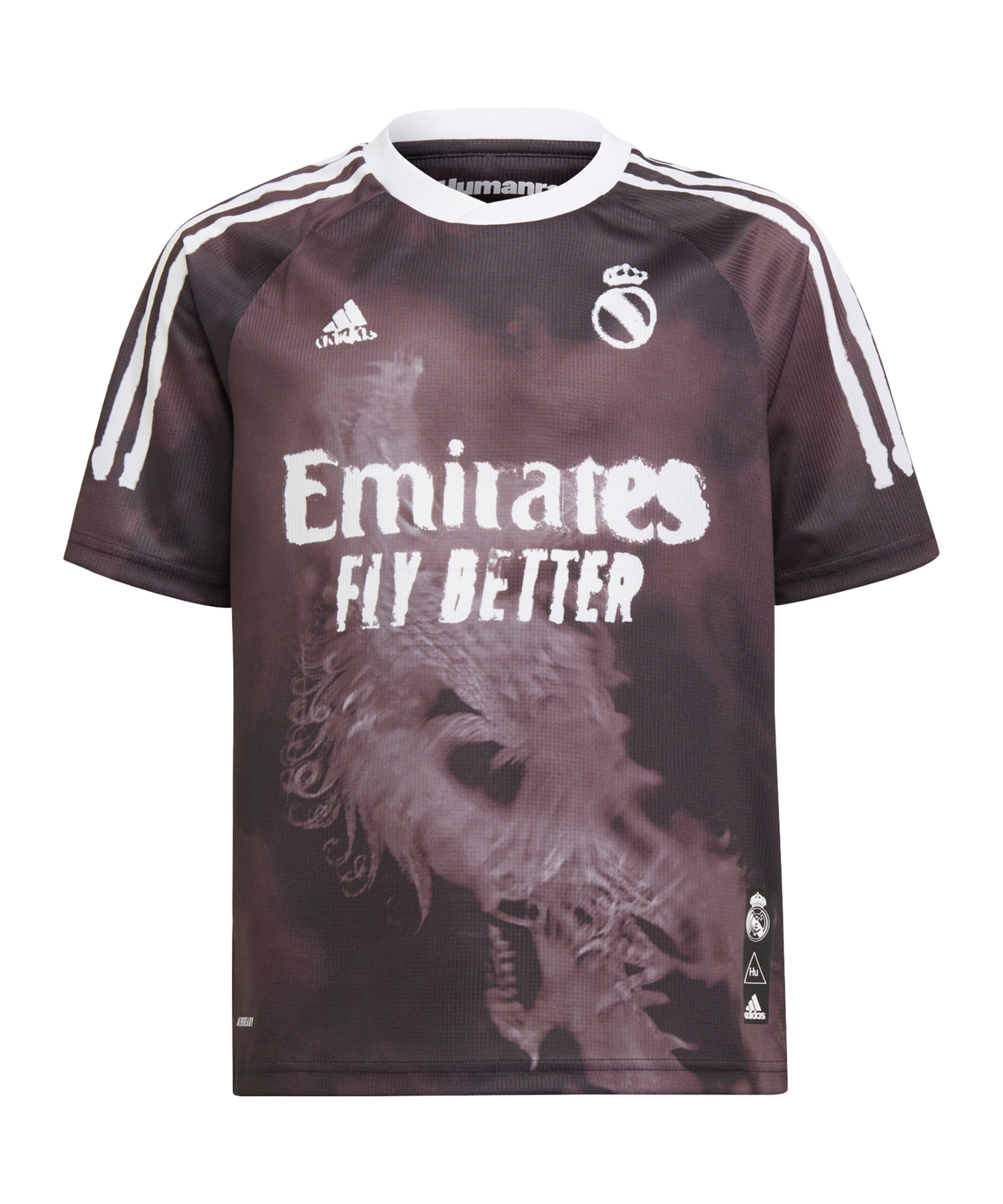 adidas Real Madrid Human Race Trikot Kids Schwarz - schwarz