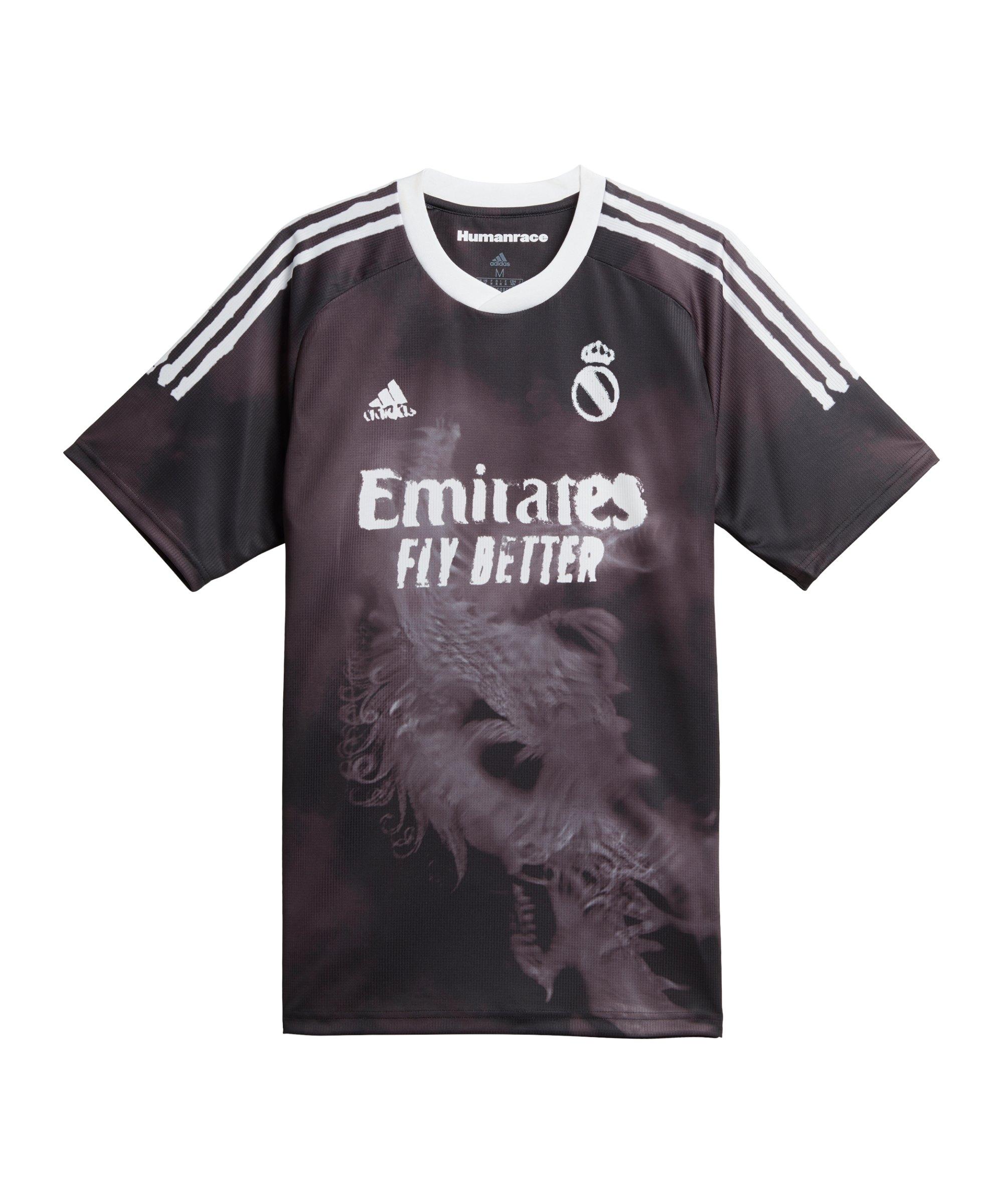 adidas Real Madrid Human Race Trikot Schwarz Weiss - schwarz
