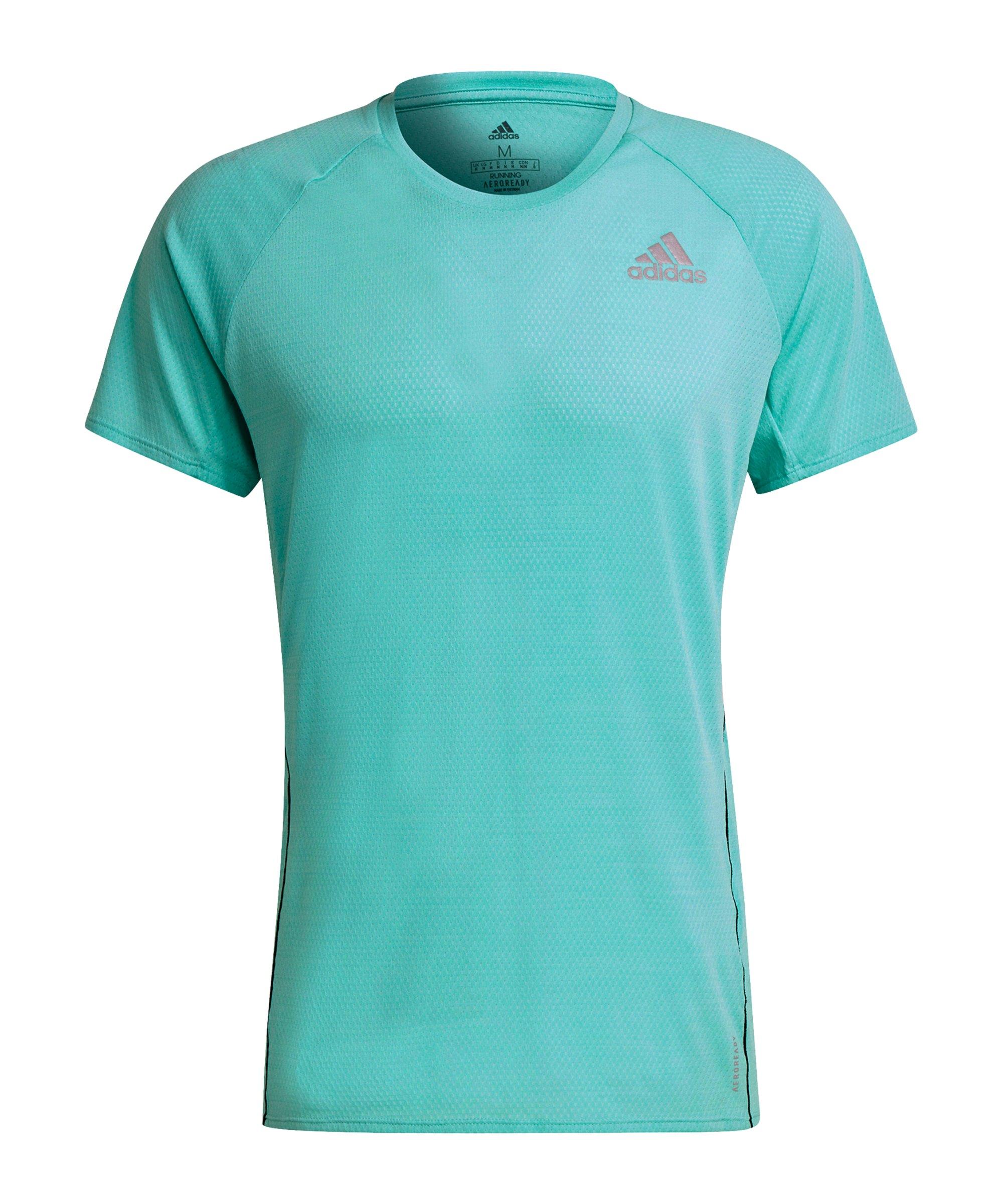 adidas Runner T-Shirt Running Grün - gruen