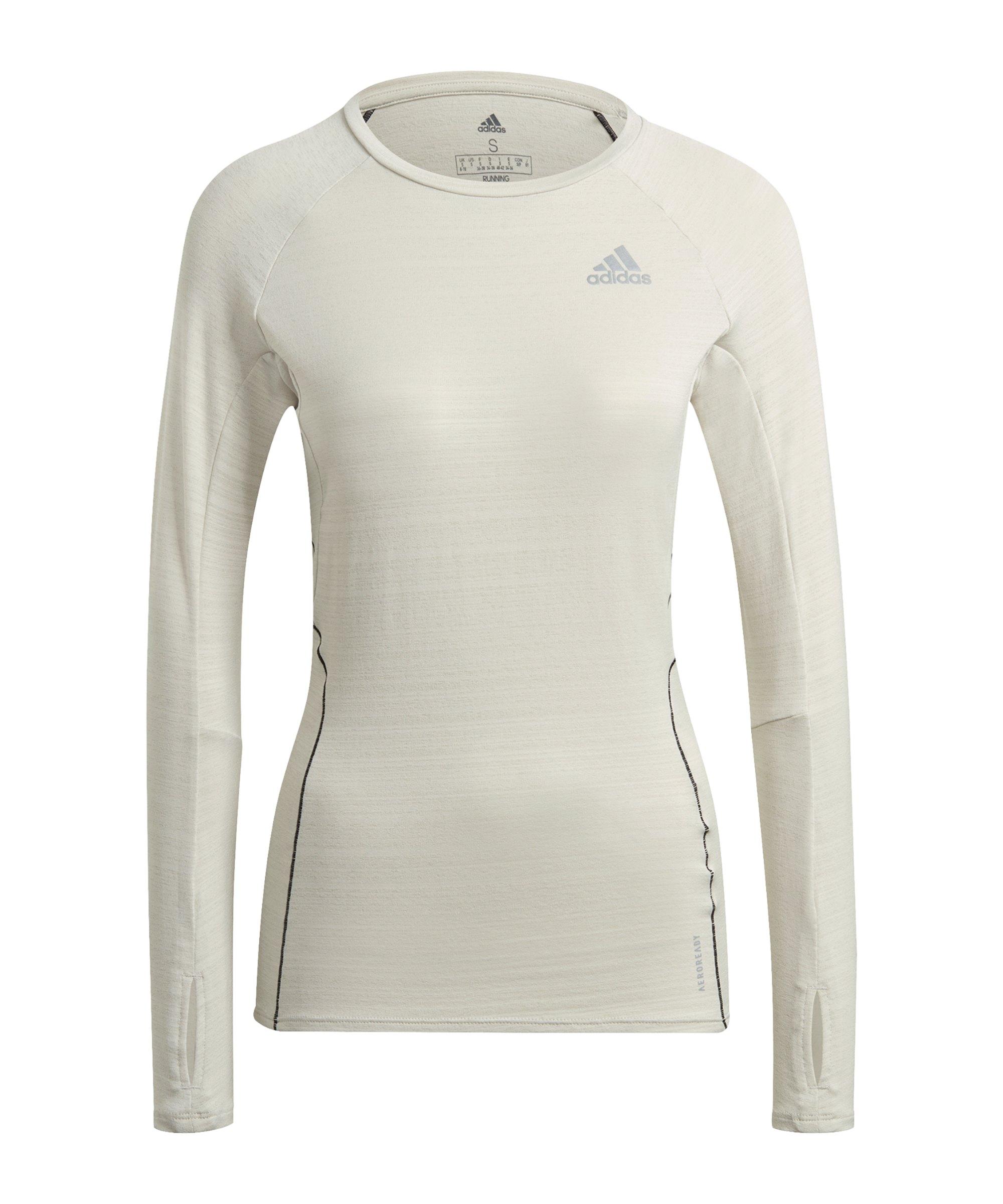 adidas Adi Runner Shirt LA Running Damen Weiss - weiss