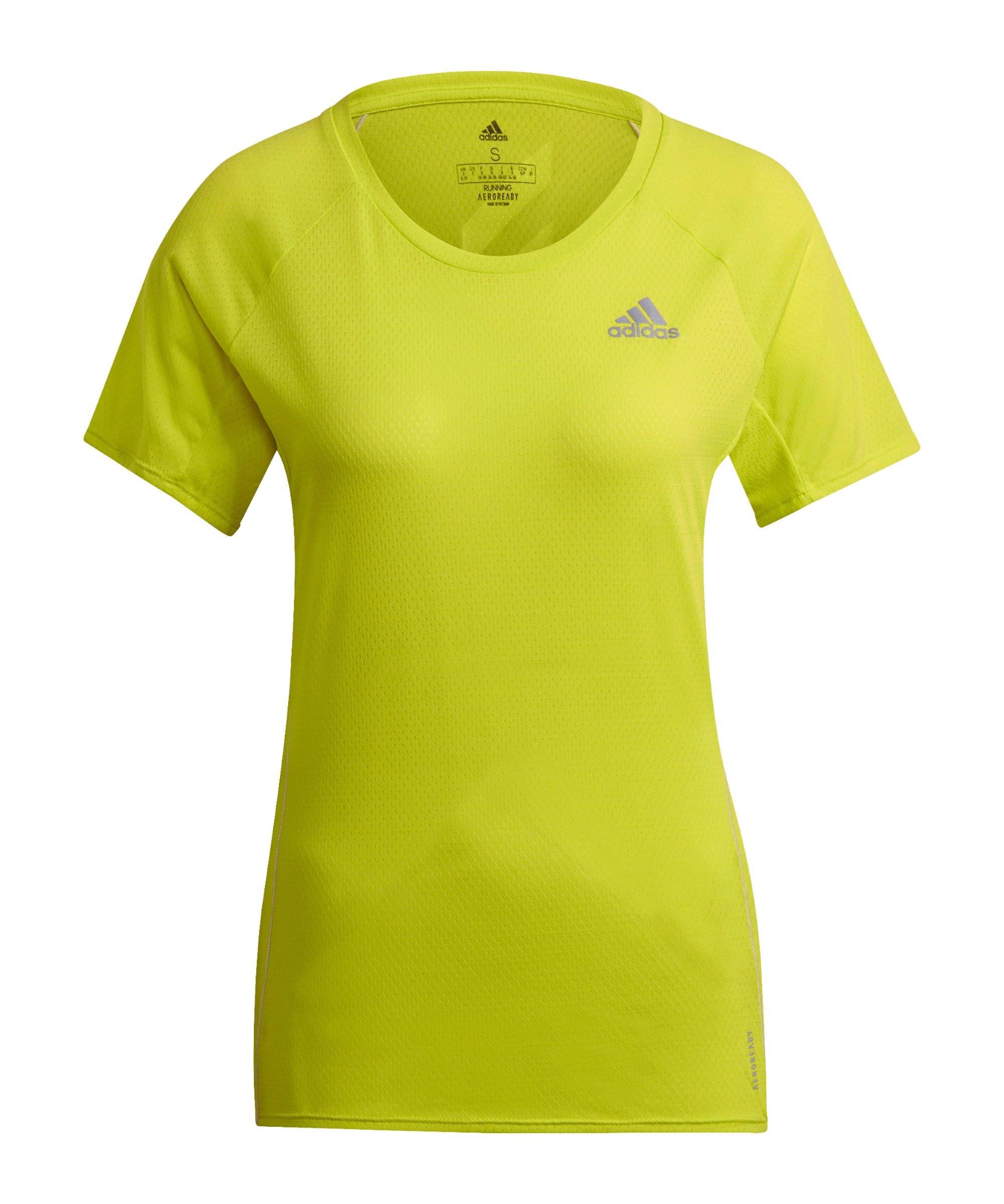 adidas Adi Runner T-Shirt Running Damen Gelb - gelb