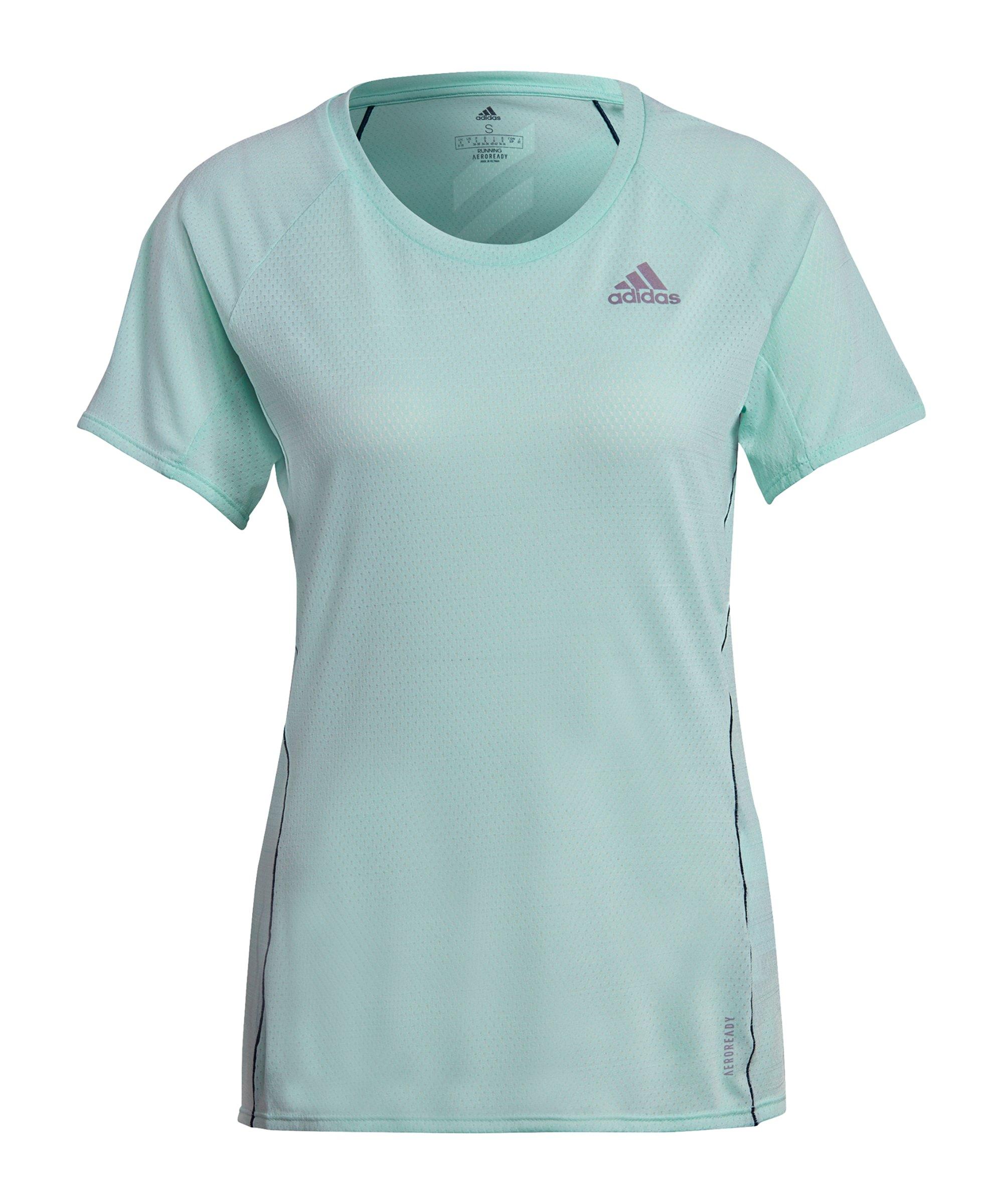 adidas Runner T-Shirt Running Damen Grün - gruen