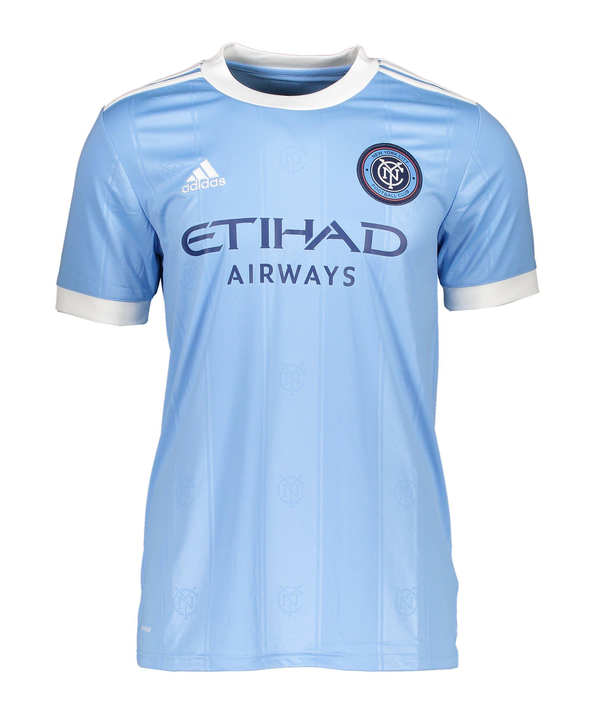 adidas New York City FC Trikot Home 2021/2022 Blau - blau