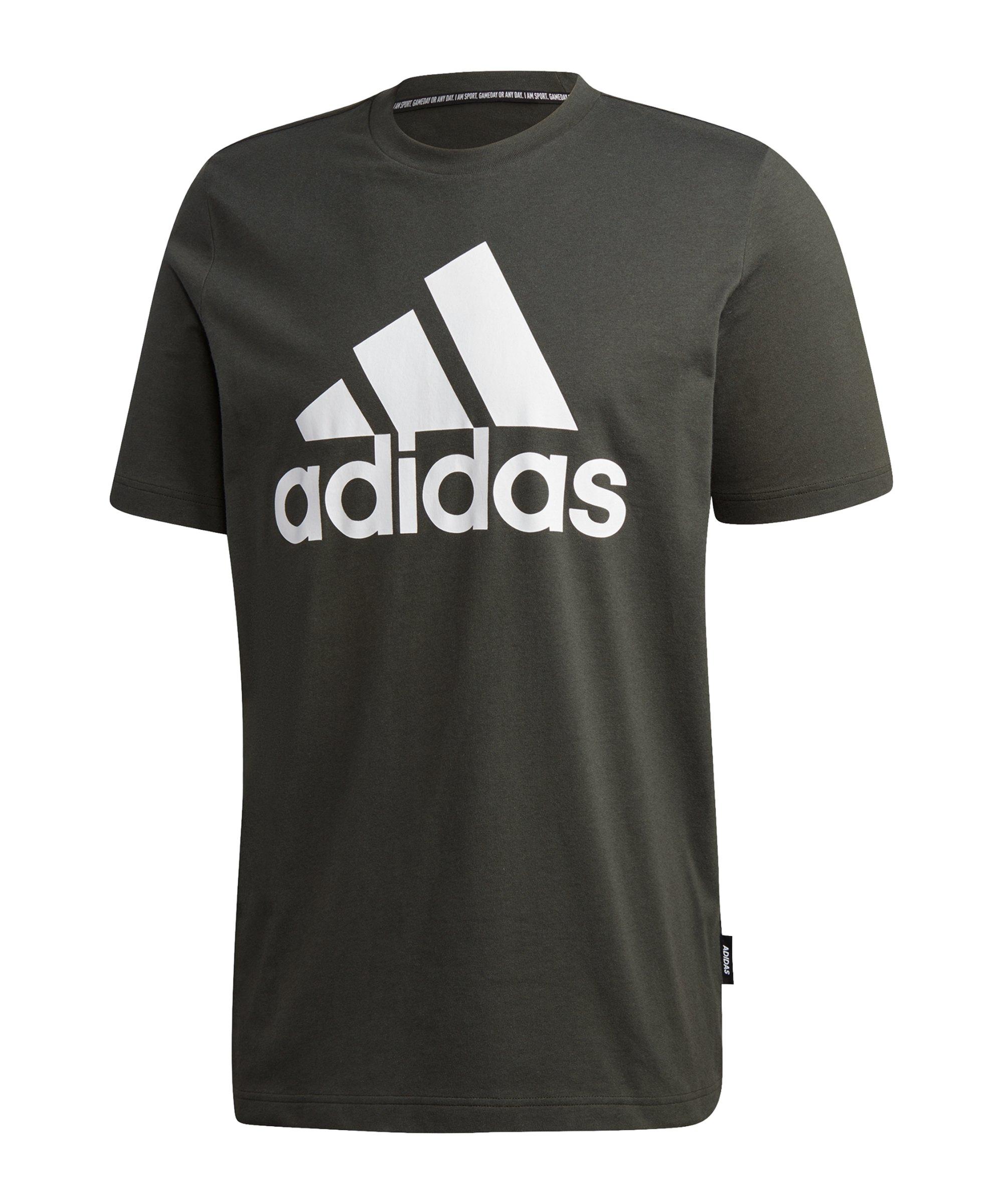 adidas Must Haves Badge of Sport T-Shirt Grün - gruen