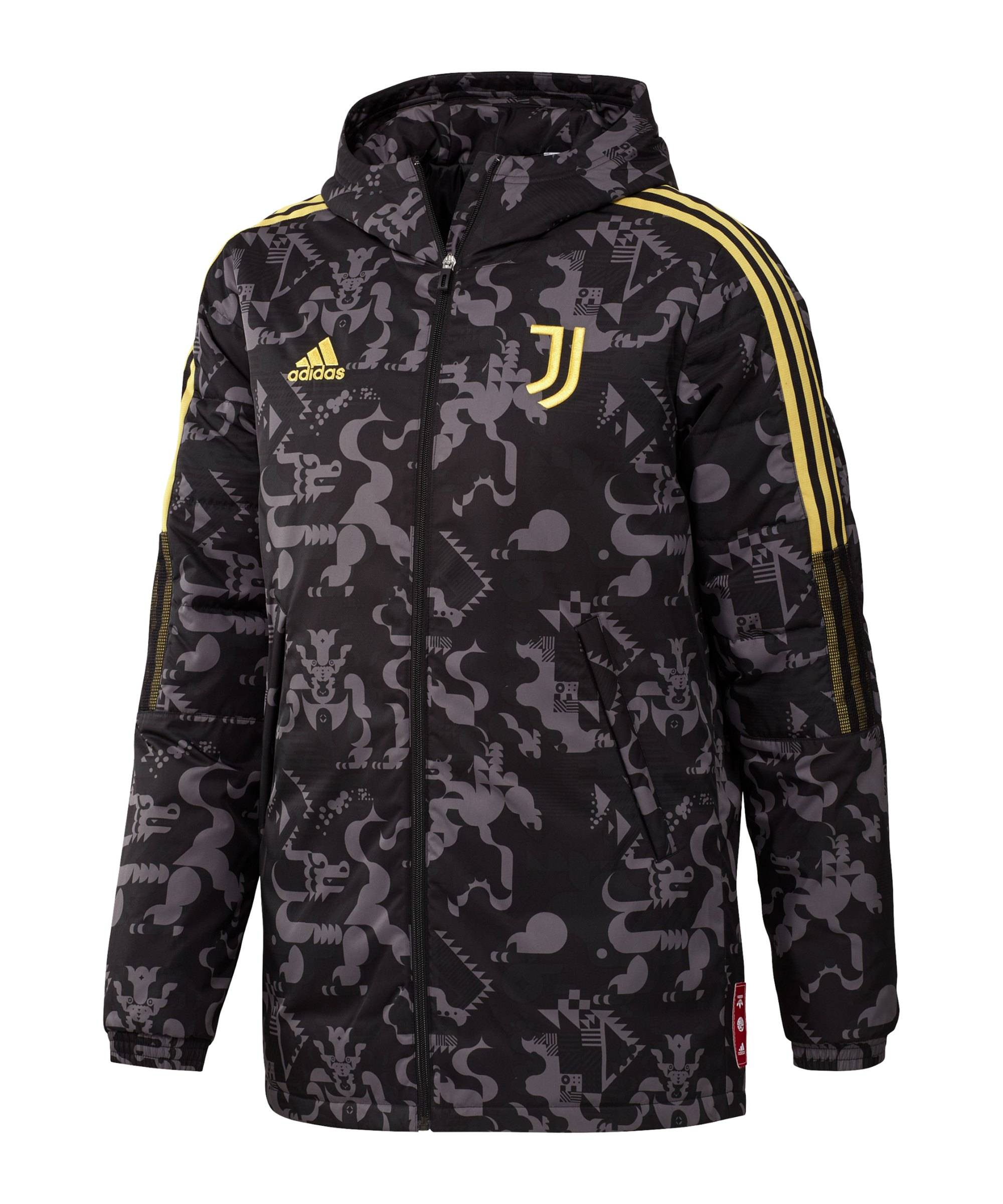adidas Juventus Turin CNY Padded Jacke Schwarz - schwarz