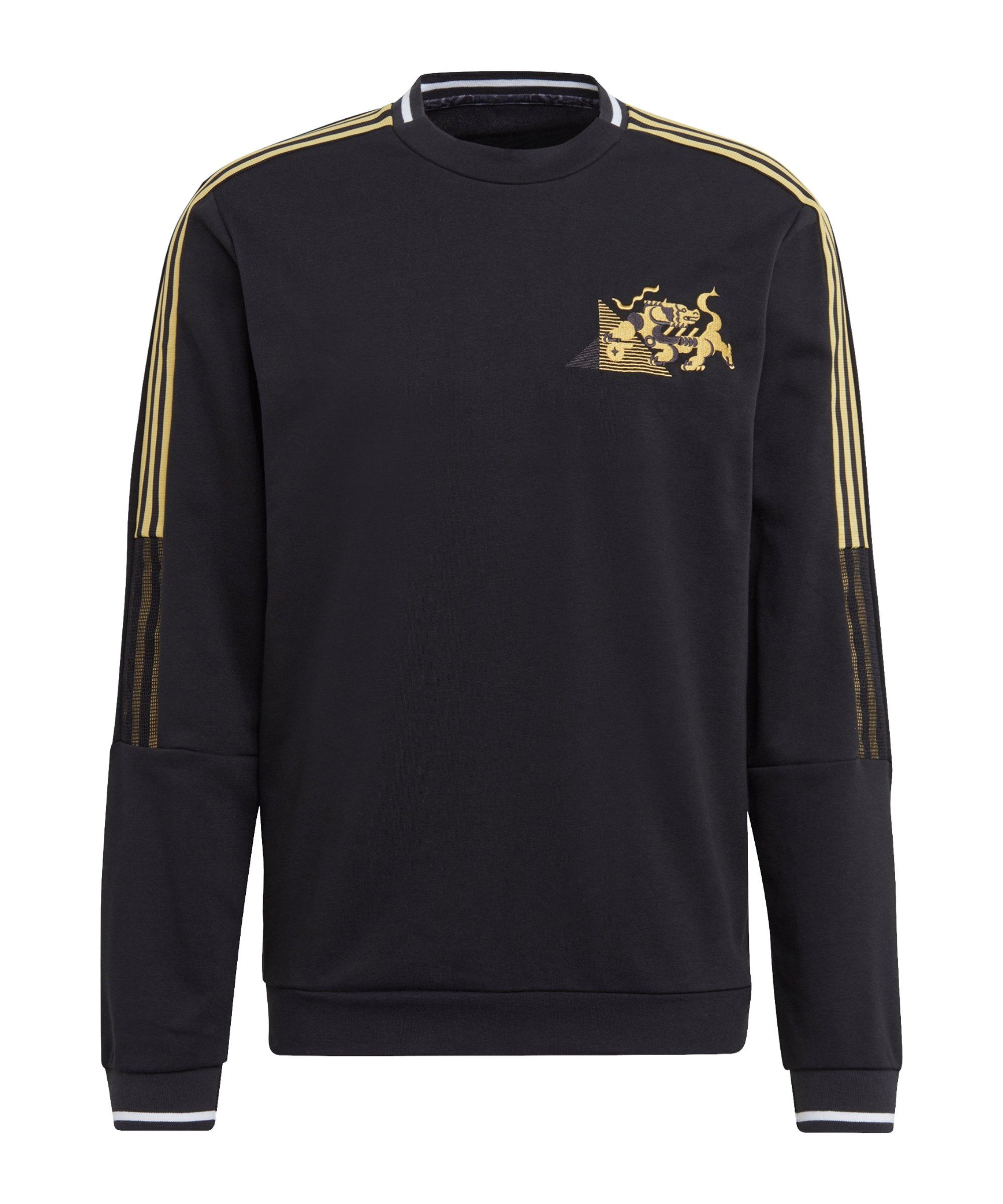 adidas Juventus Turin CNY Sweatshirt Schwarz - schwarz