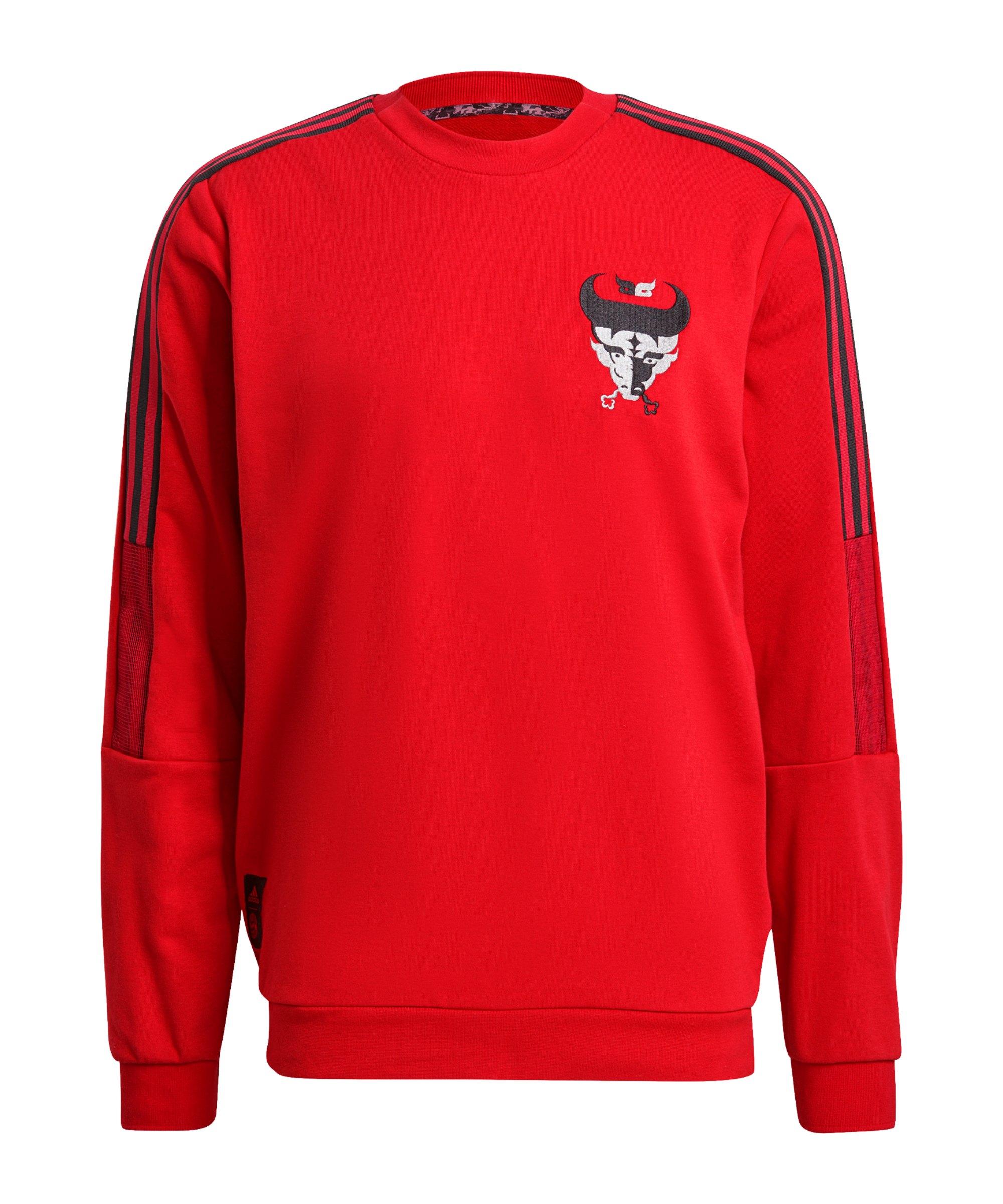 adidas FC Bayern München CNY Sweatshirt Rot - rot