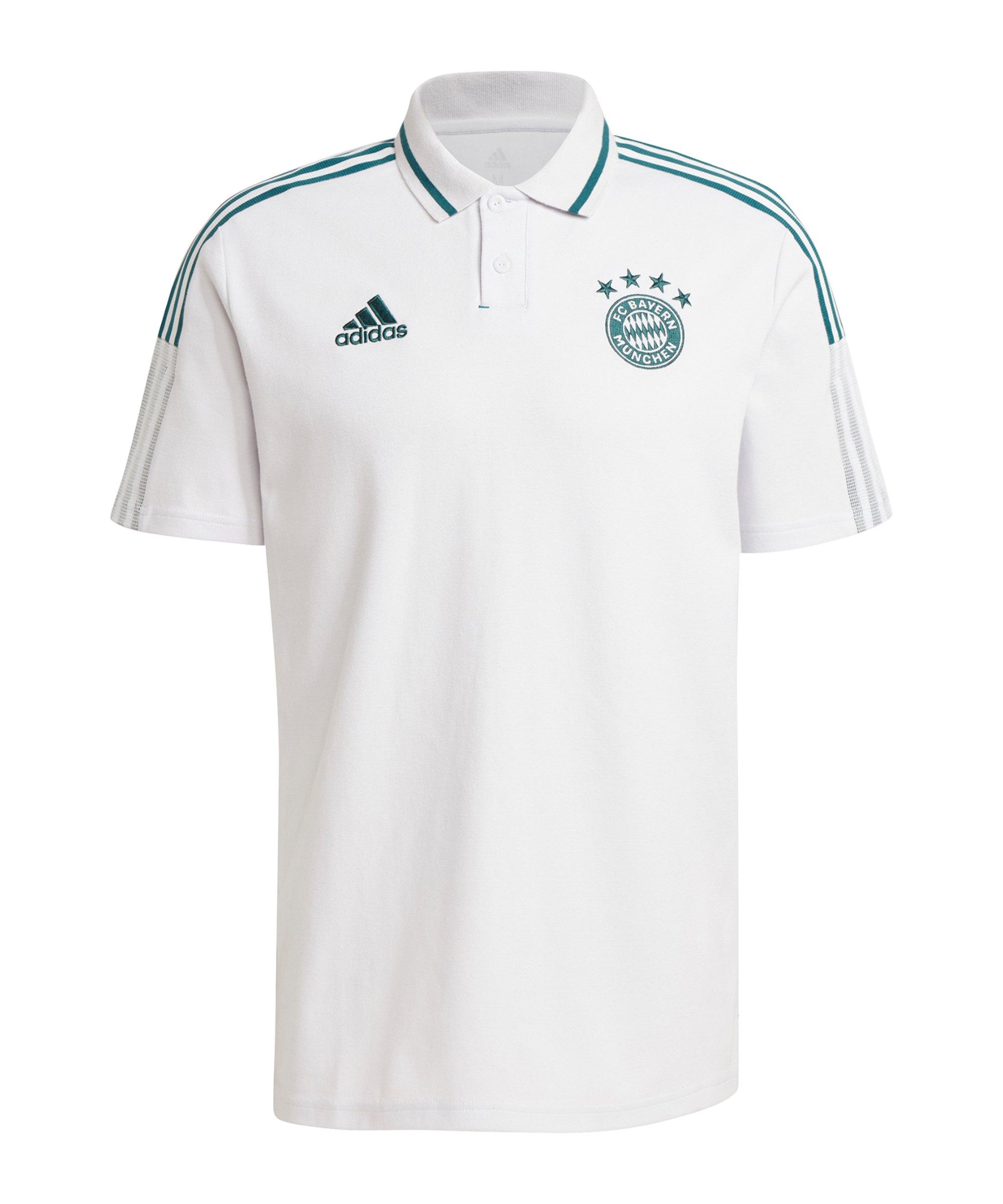 adidas FC Bayern München Poloshirt Weiss - weiss