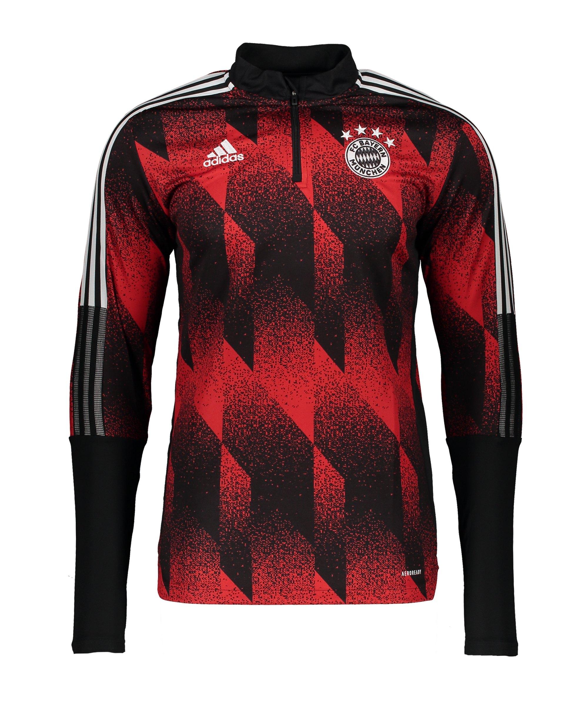 adidas FC Bayern München AOP Trainingstop Schwarz - schwarz