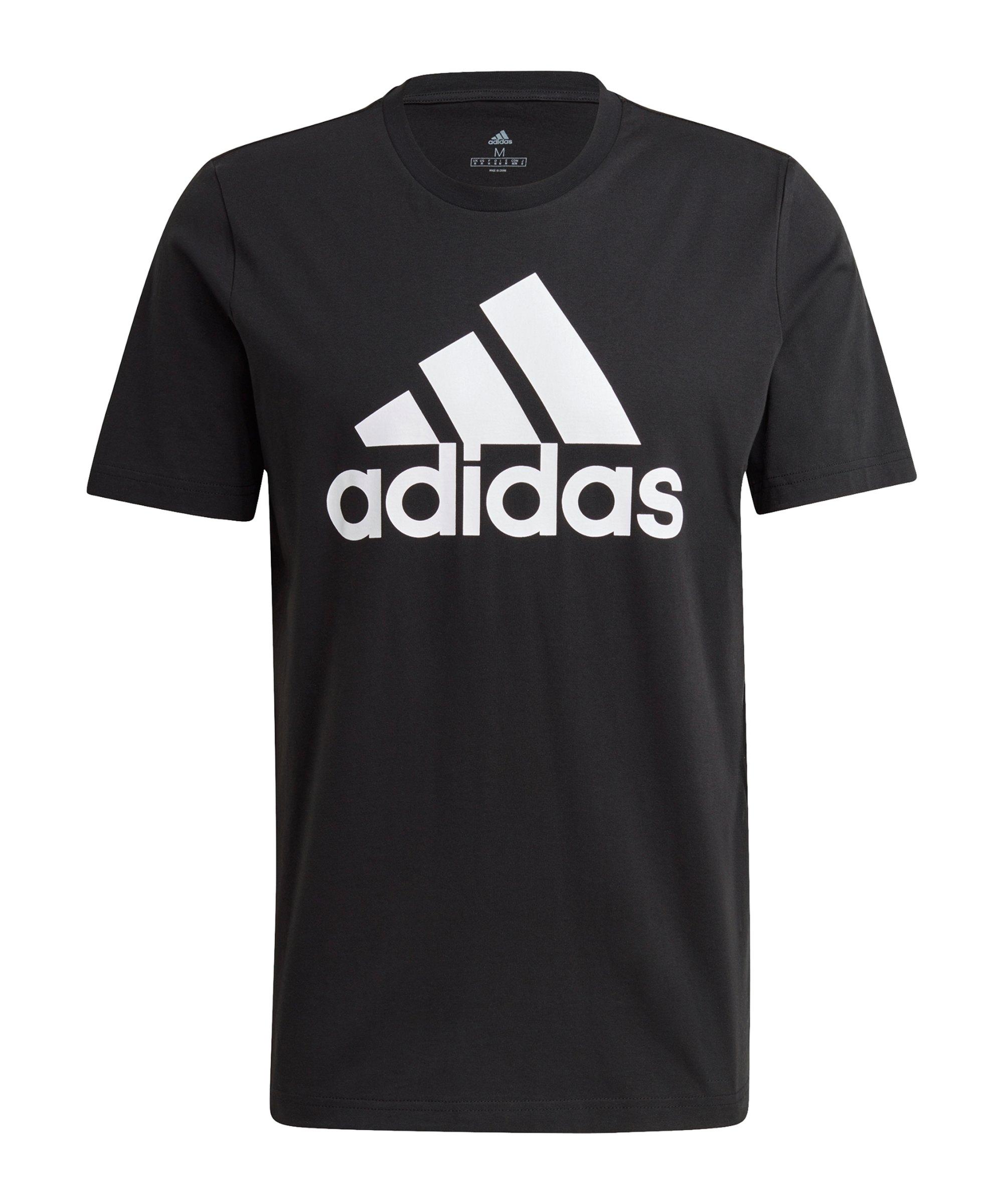 adidas Essentials T-Shirt Schwarz Weiss - schwarz