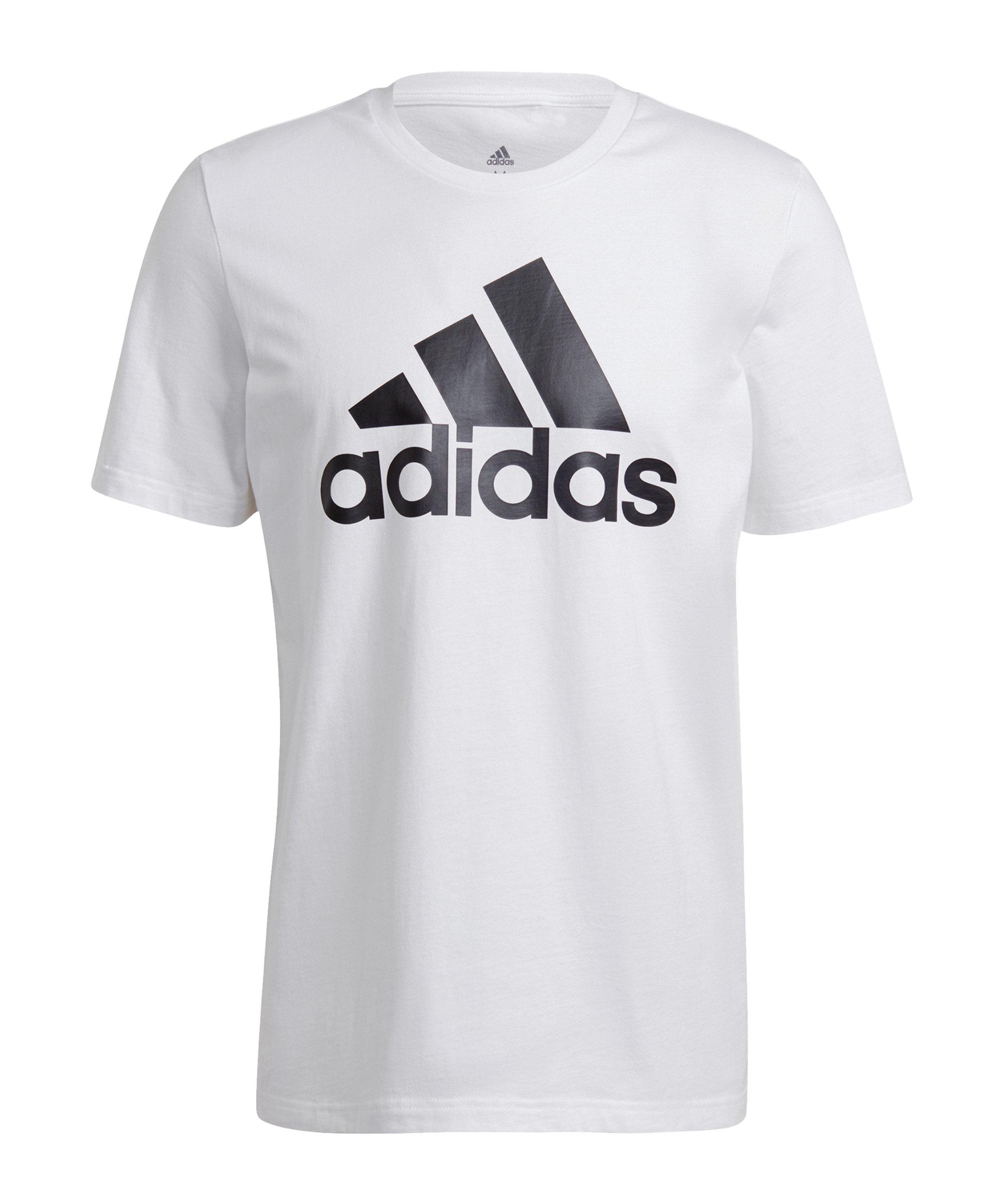 adidas Essentials T-Shirt Weiss Schwarz - weiss