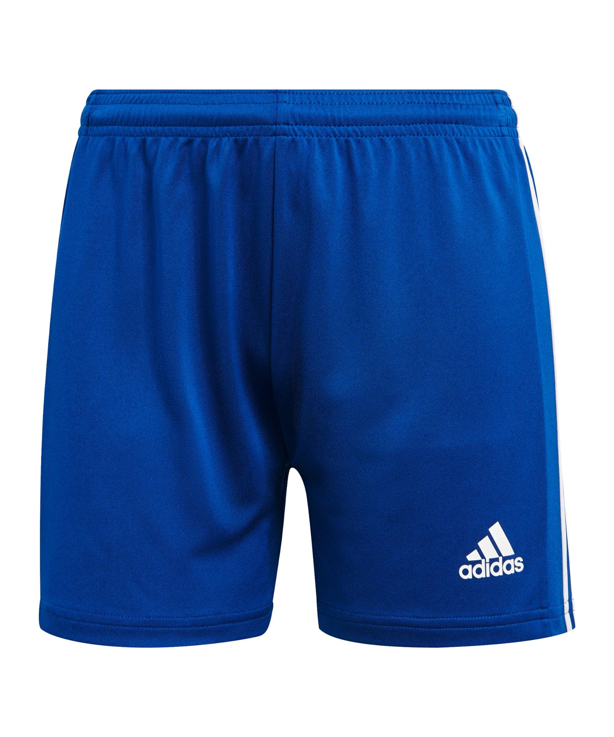 adidas Squadra 21 Short Damen Blau Weiss - blau