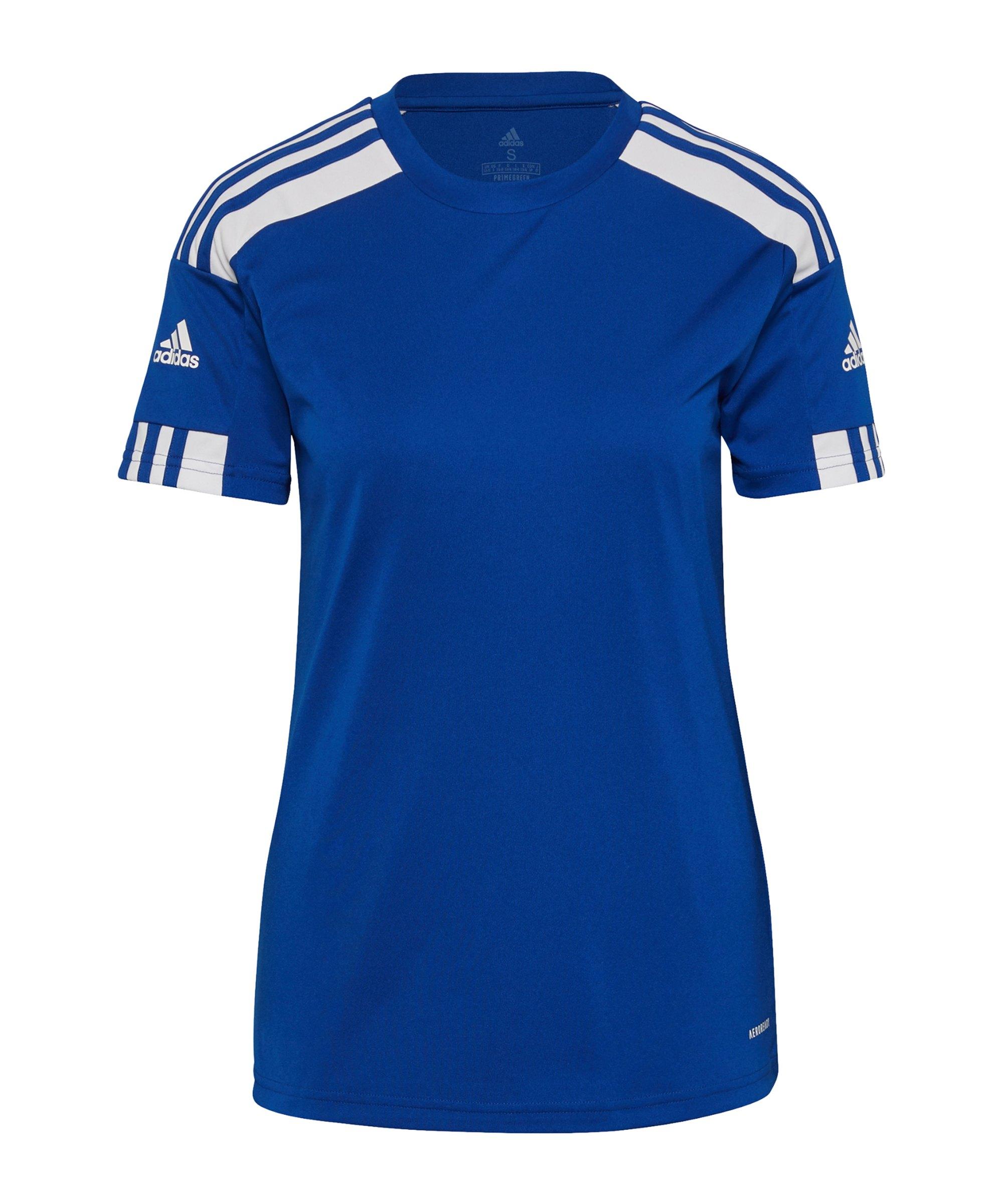 adidas Squadra 21 Trikot Damen Blau Weiss - blau