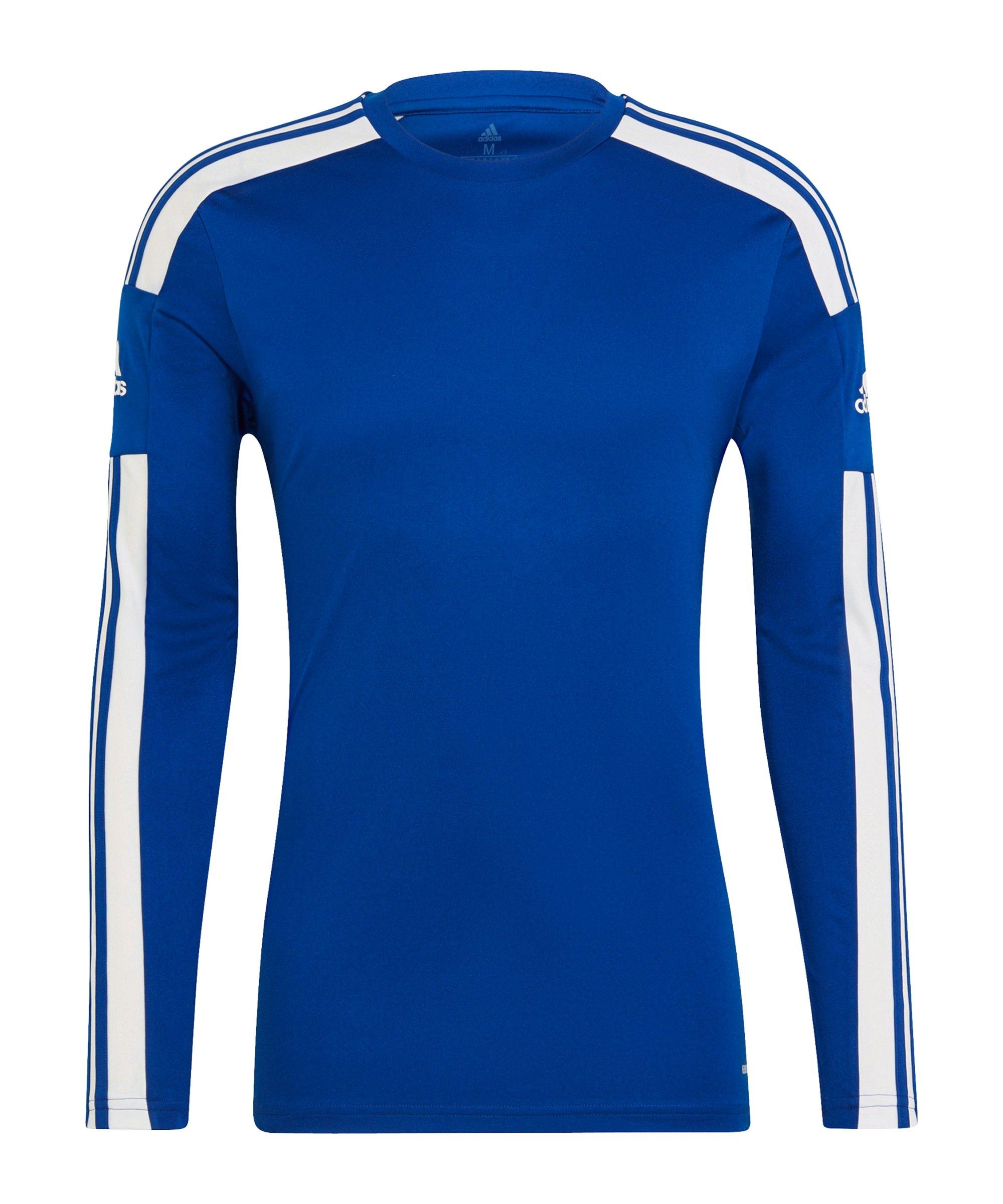 adidas Squadra 21 Trikot langarm Blau Weiss - blau