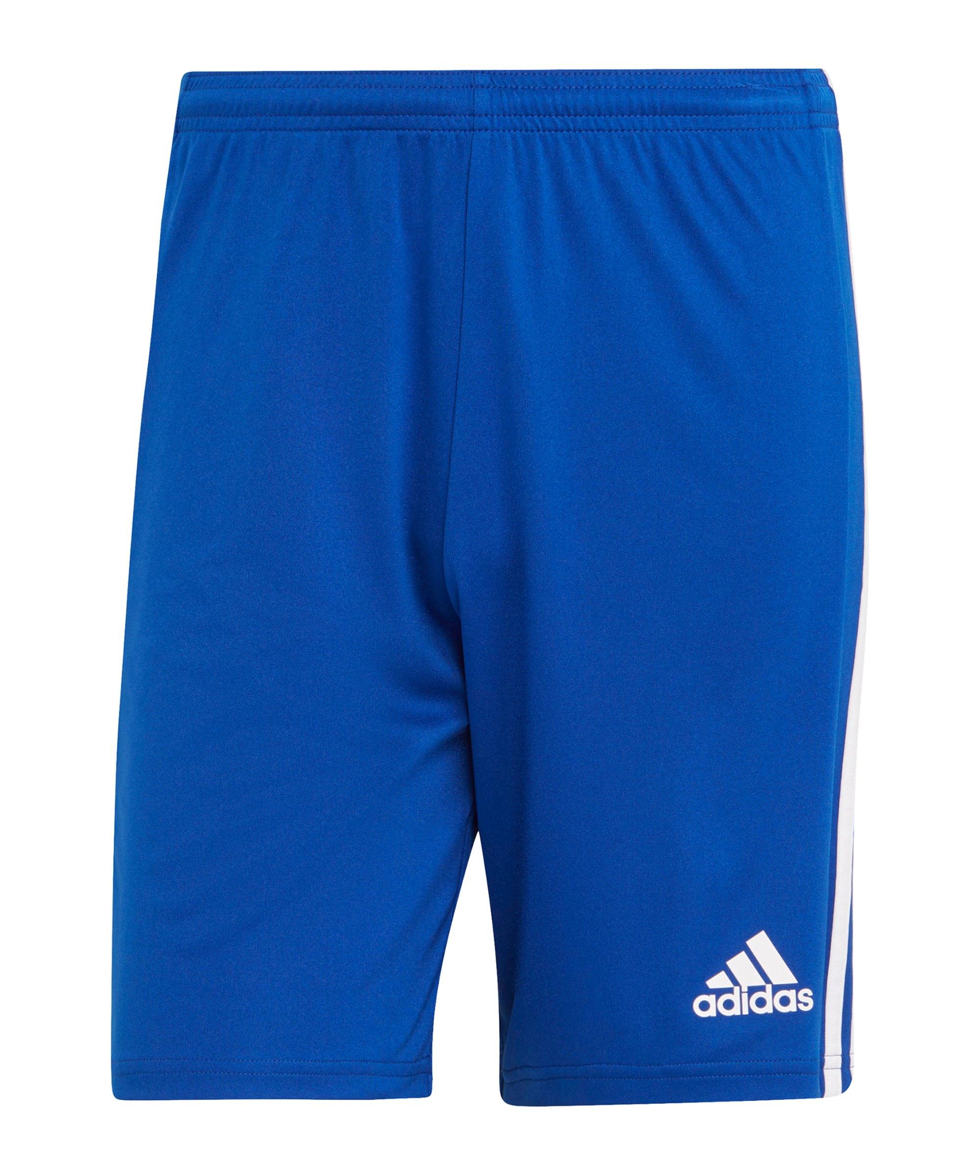 adidas Squadra 21 Short Blau Weiss - blau