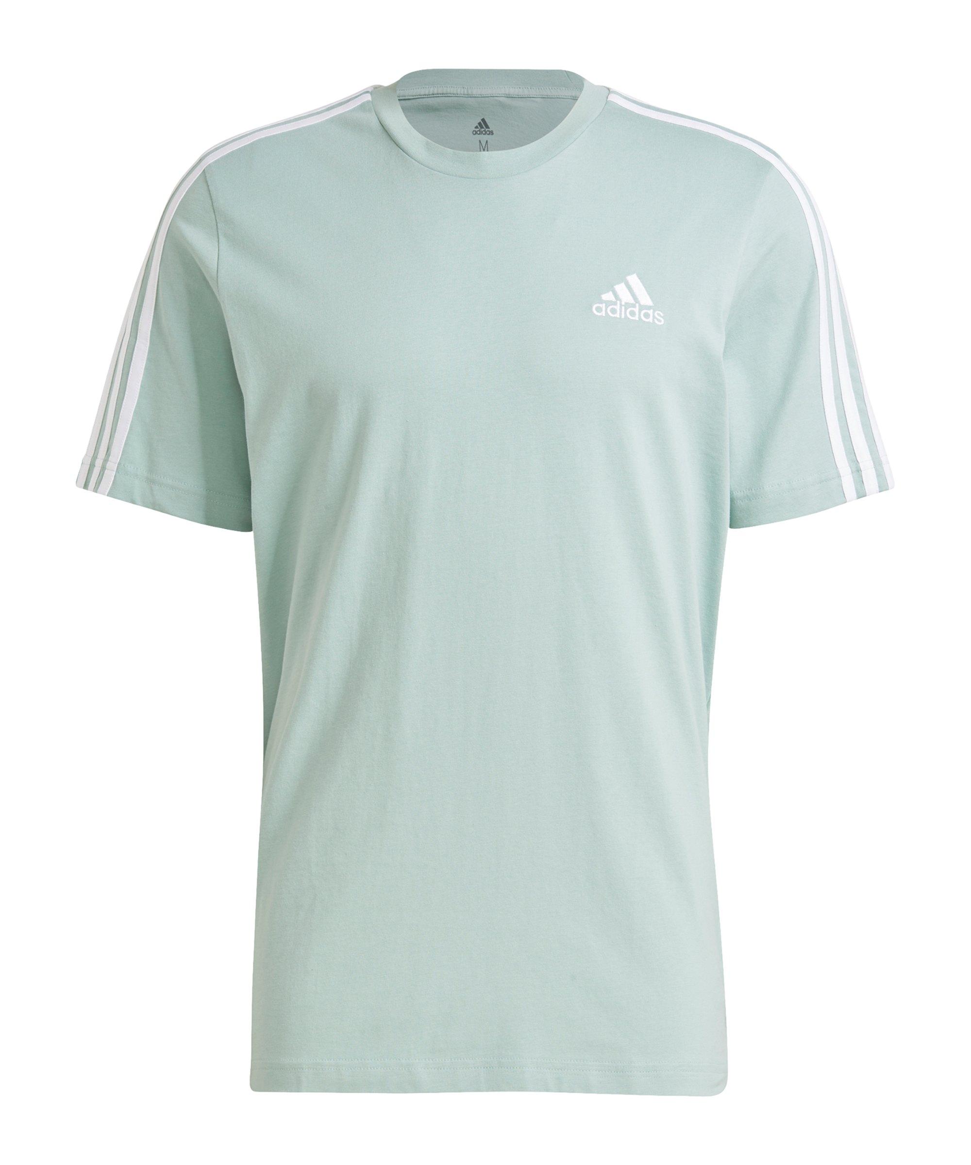 adidas Essentials T-Shirt Hellgrün - gruen