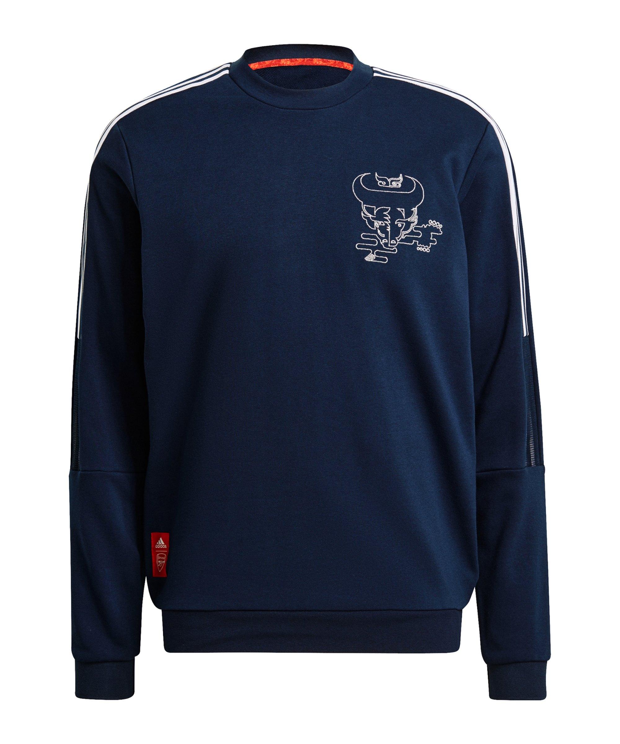 adidas FC Arsenal London CNY Sweatshirt Blau - blau
