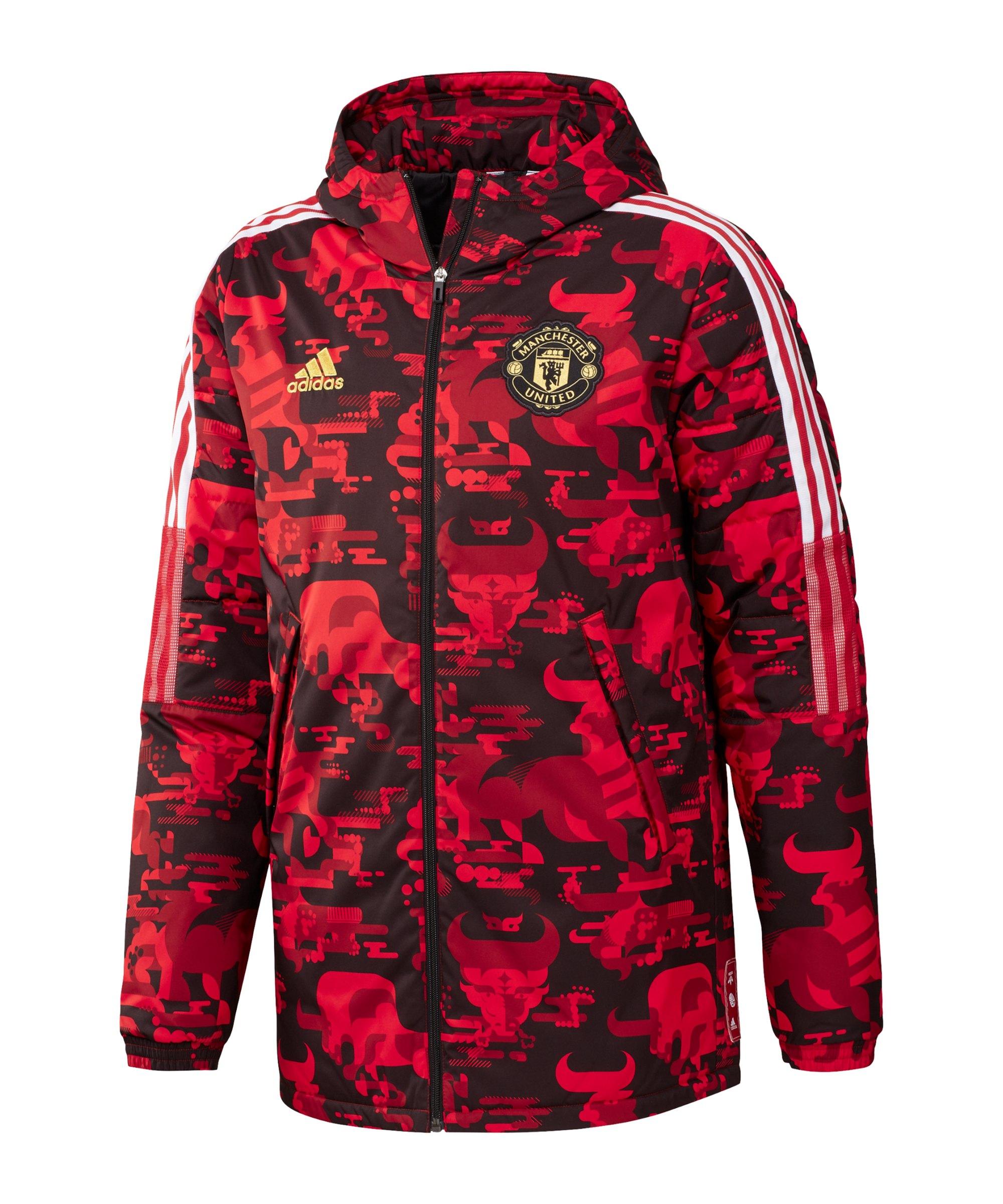 adidas Manchester United CNY Padded Jacke Rot - rot