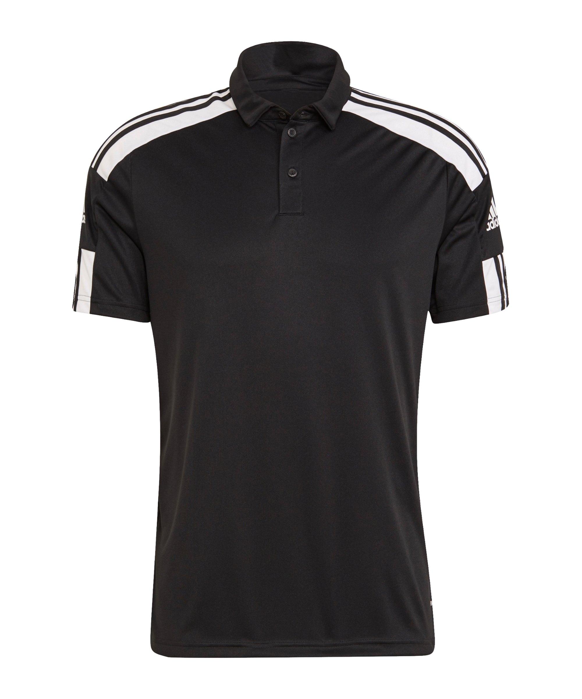 adidas Squadra 21 Poloshirt Schwarz Weiss - schwarz