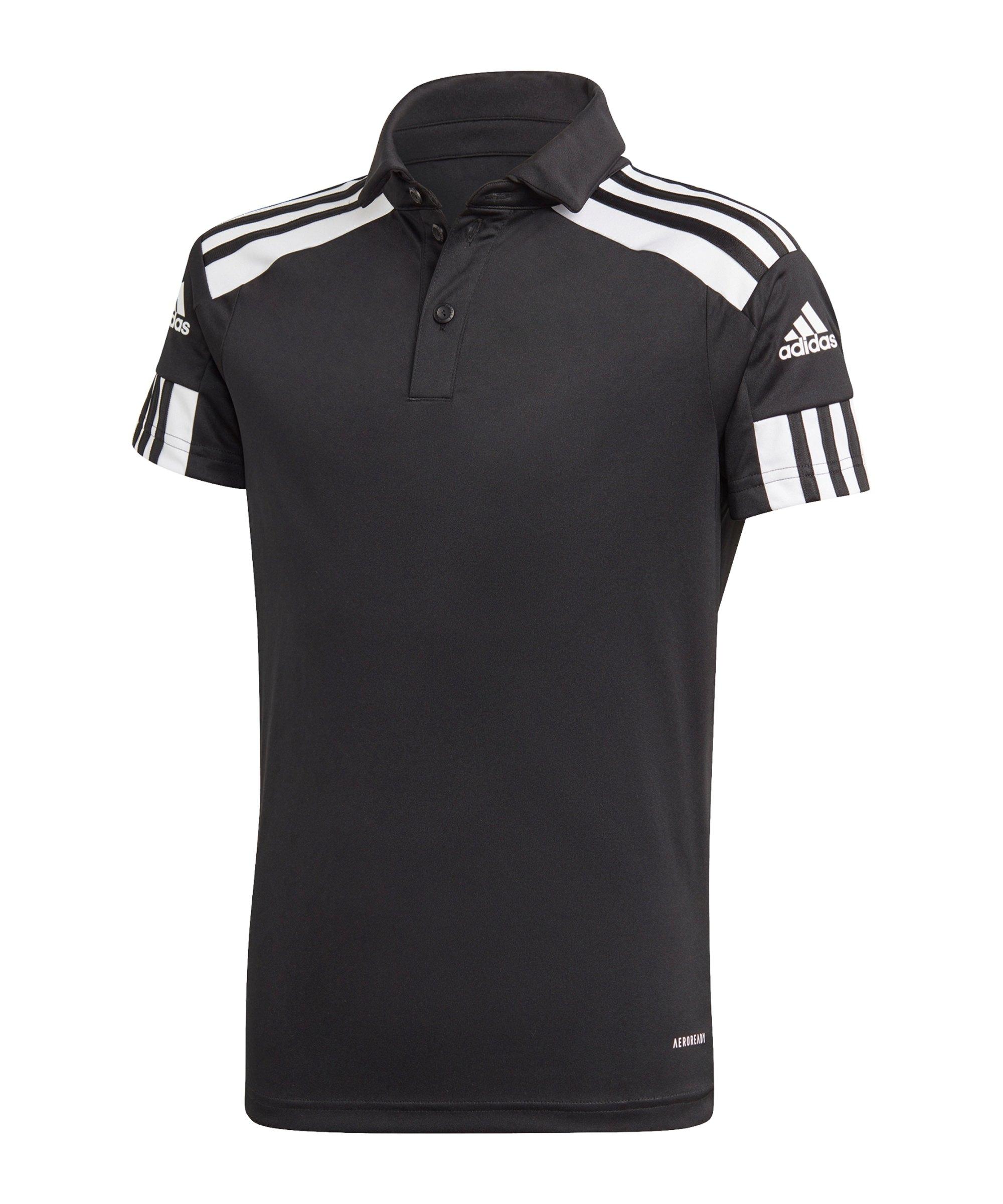 adidas Squadra 21 Poloshirt Kids Schwarz Weiss - schwarz