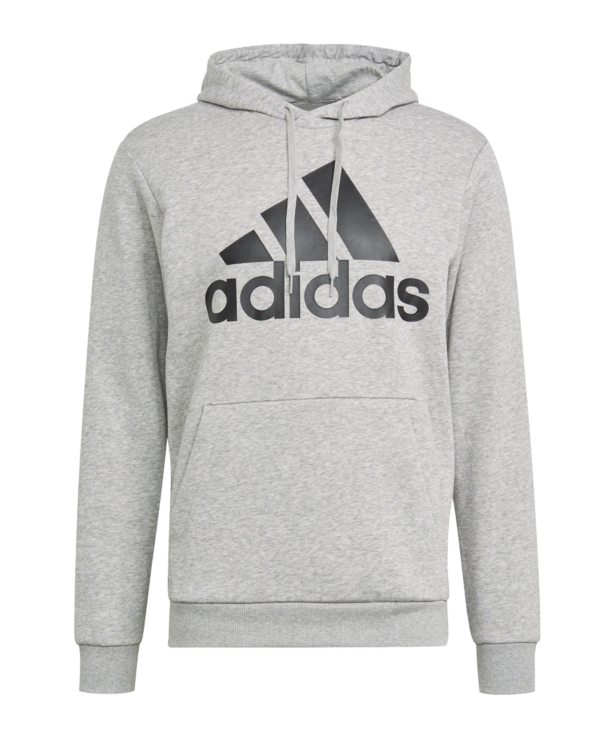 adidas Essentials Hoody Grau Schwarz - grau