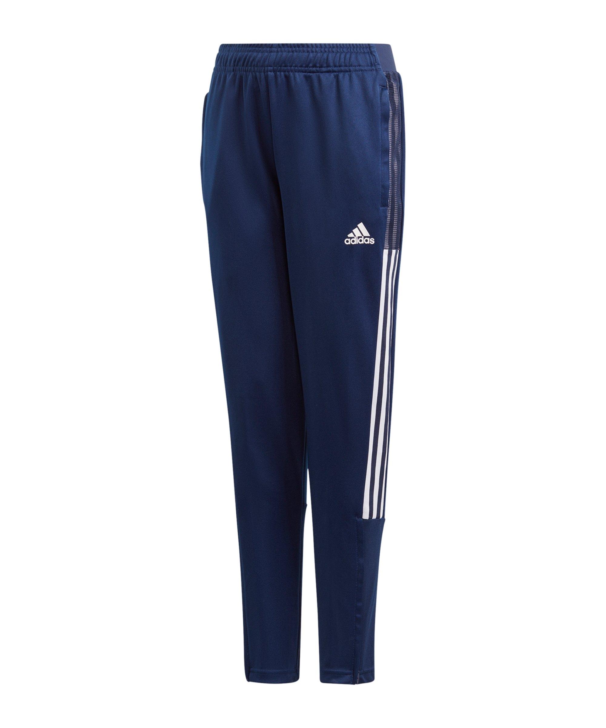 adidas Tiro 21 Trainingshose Kids Blau Weiss - blau