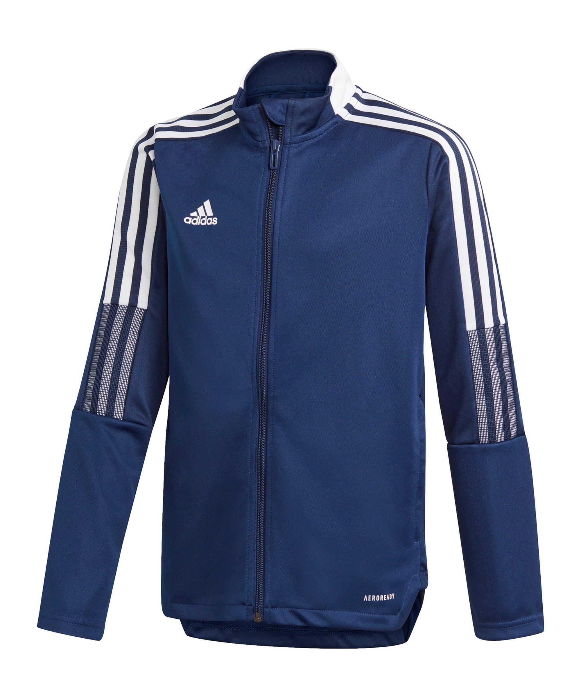adidas Tiro 21 Trainingsjacke Kids Dunkelblau - blau