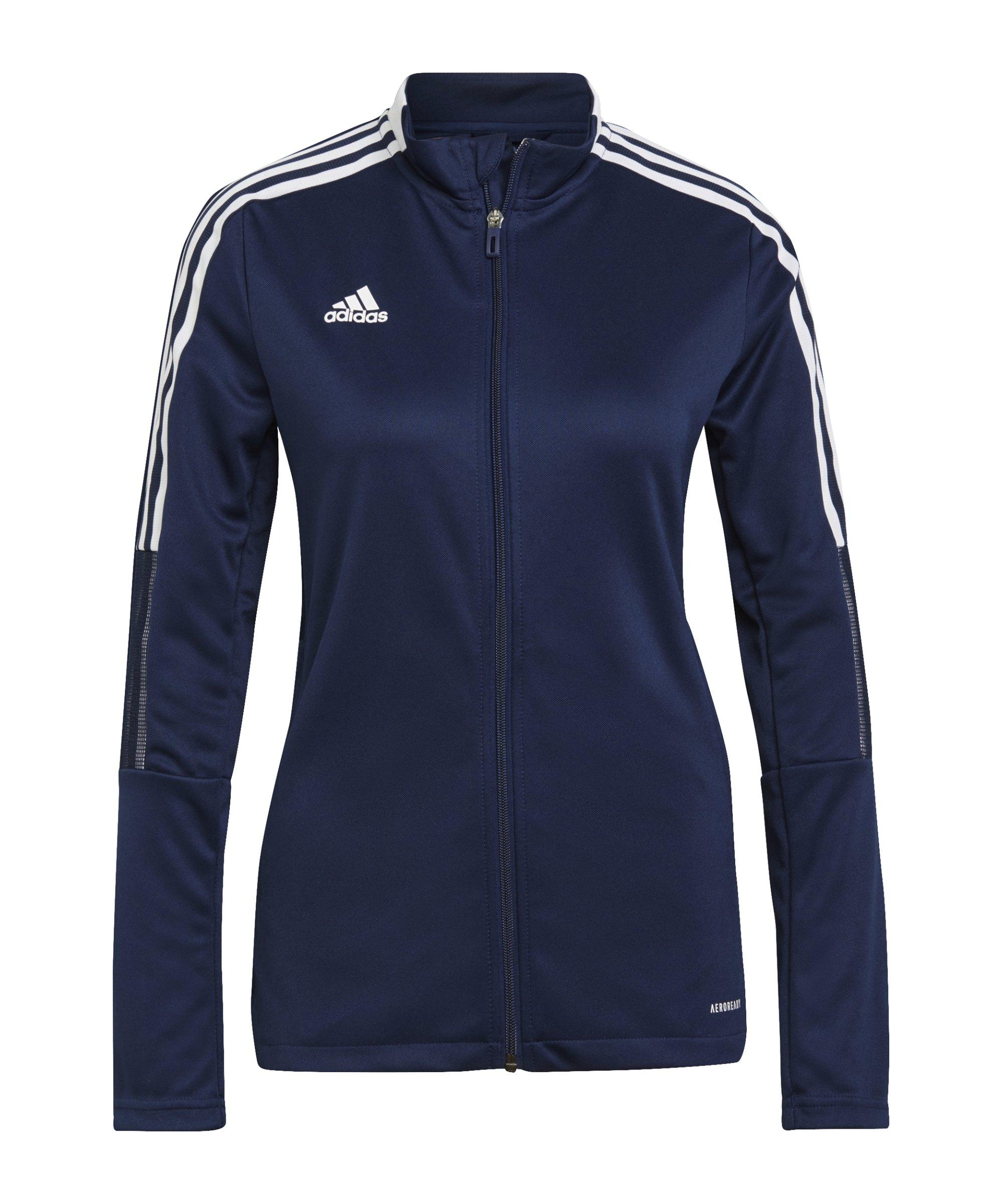adidas Tiro 21 Trainingsjacke Damen Dunkelblau - blau