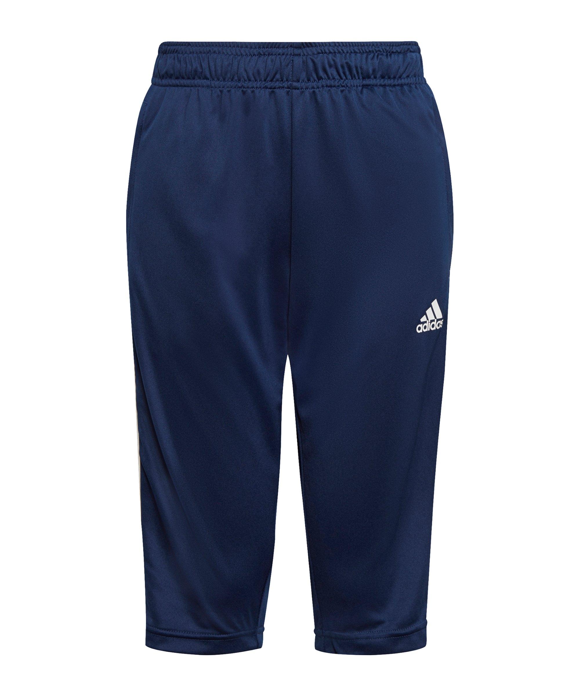 adidas Tiro 21 3/4 Trainingshose Kids Dunkelblau - blau