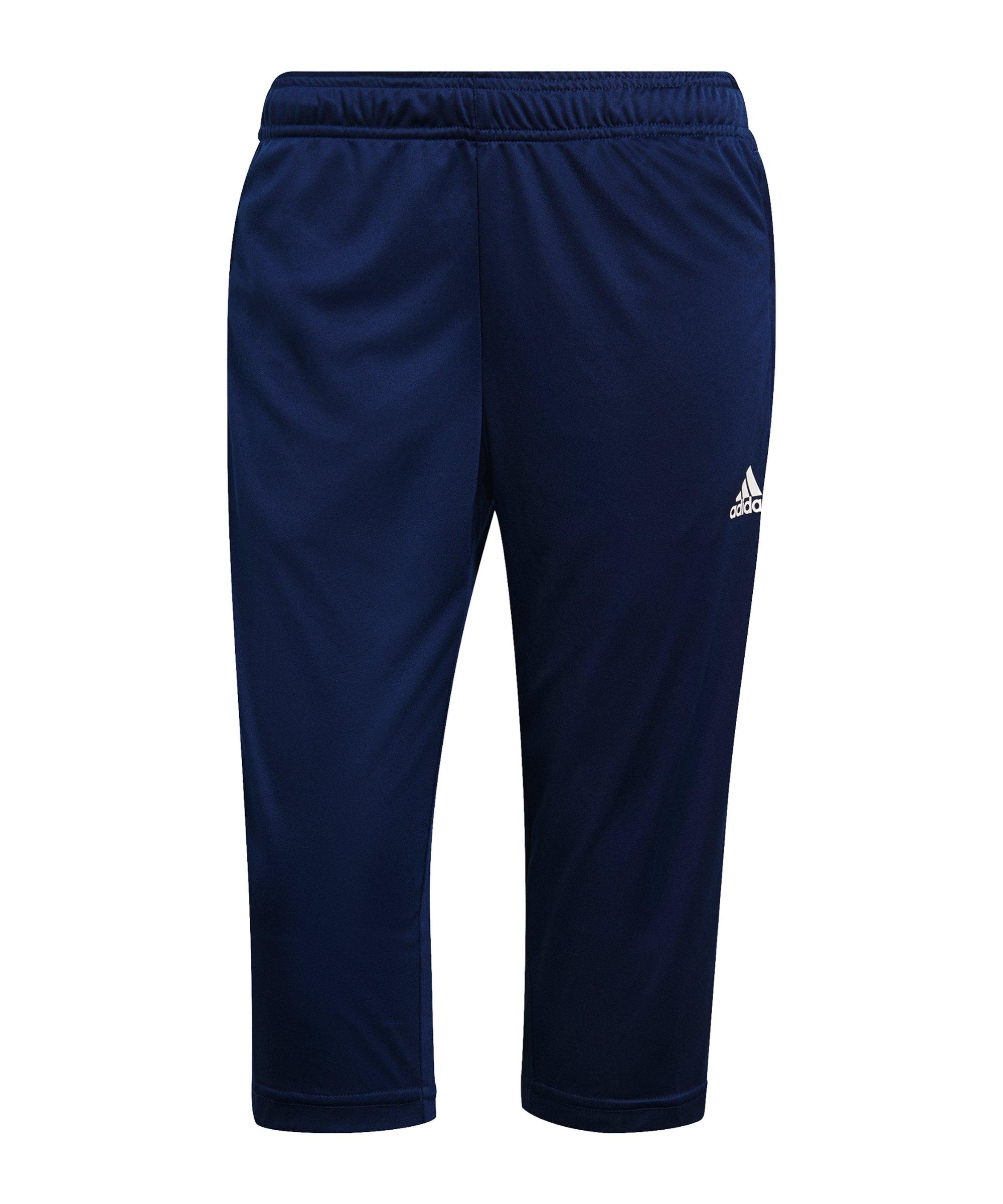 adidas Tiro 21 3/4 Trainingshose Damen Dunkelblau - blau