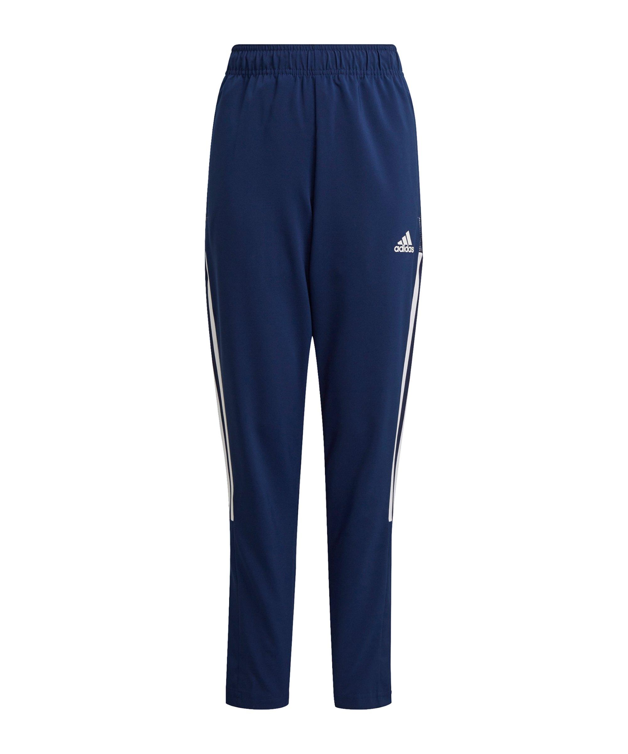 adidas Tiro 21 Woven Trainingshose Kids Dunkelblau - blau
