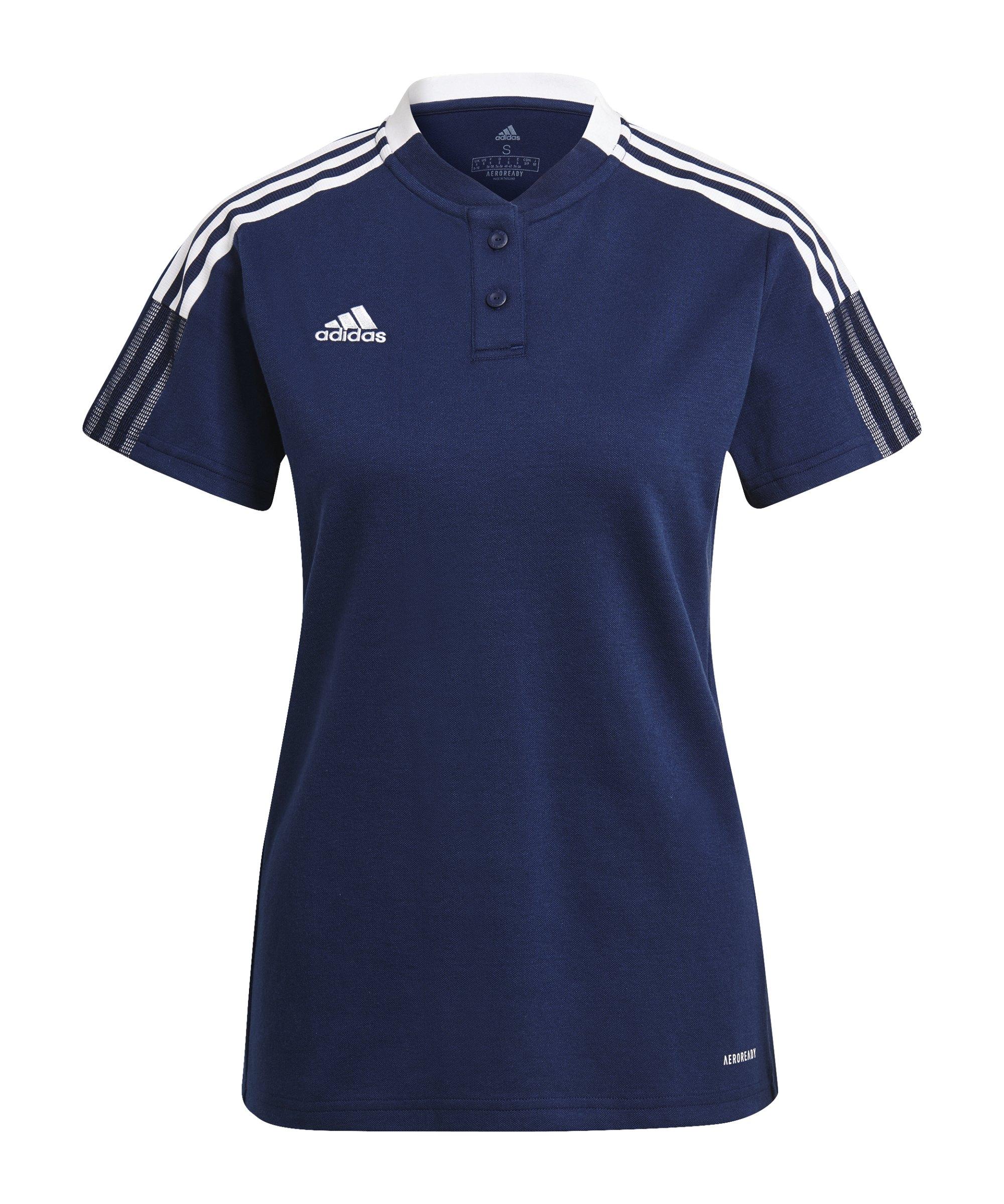 adidas Tiro 21 Poloshirt Damen Dunkelblau - blau