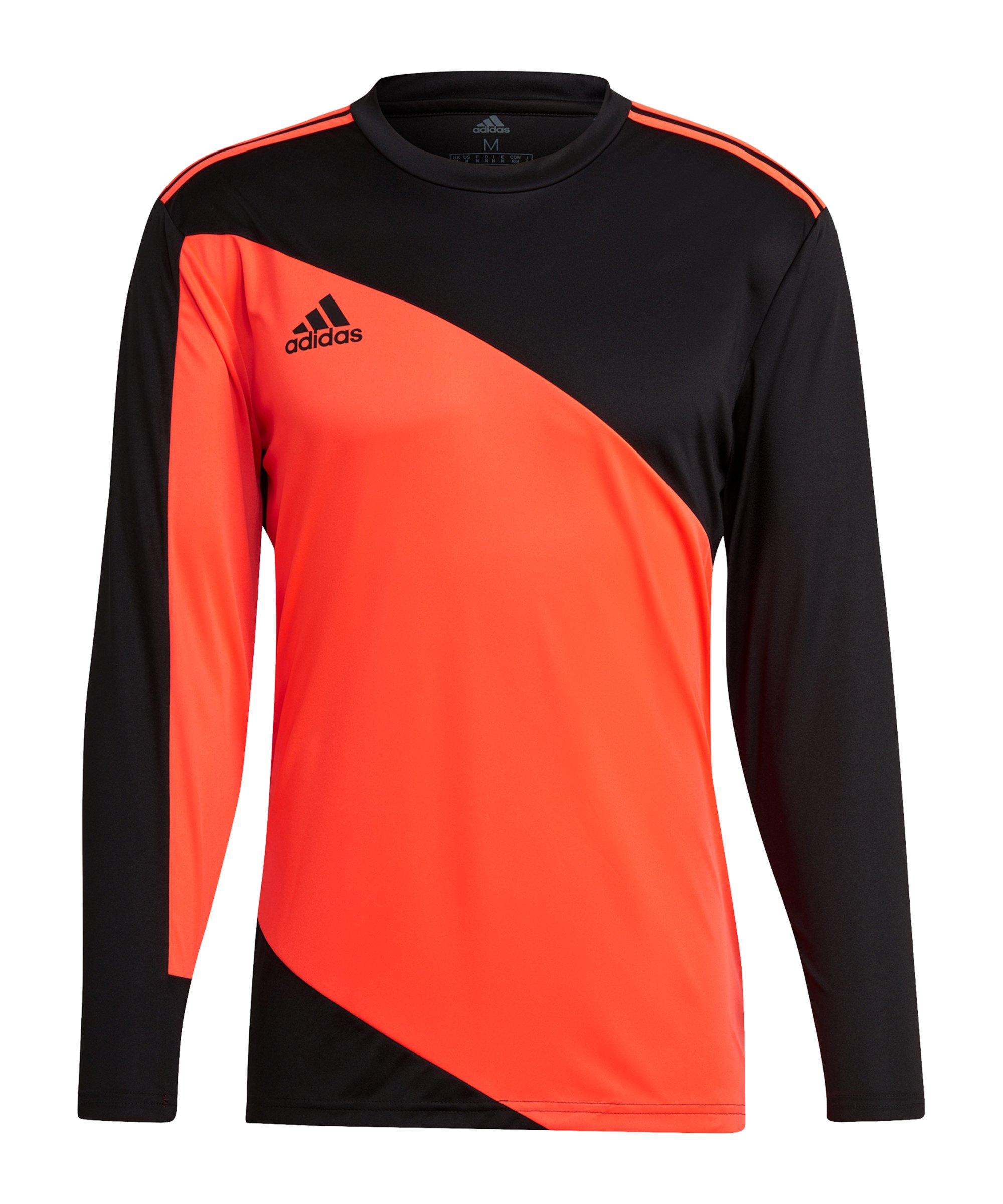 adidas Squadra 21 Torwarttrikot Schwarz Rot - orange