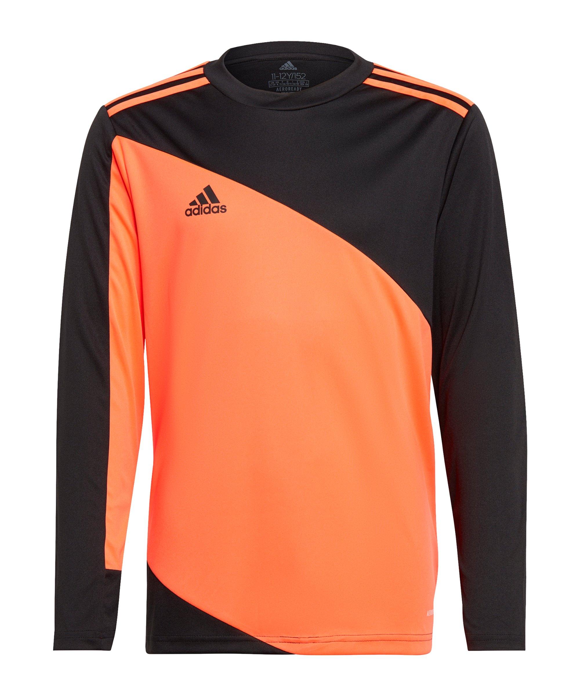 adidas Squadra 21 Torwarttrikot Kids Schwarz Rot - orange