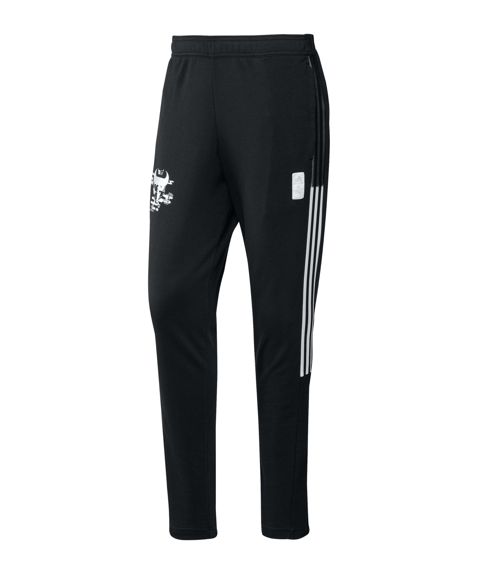 adidas Real Madrid CNY Jogginghose Schwarz - schwarz