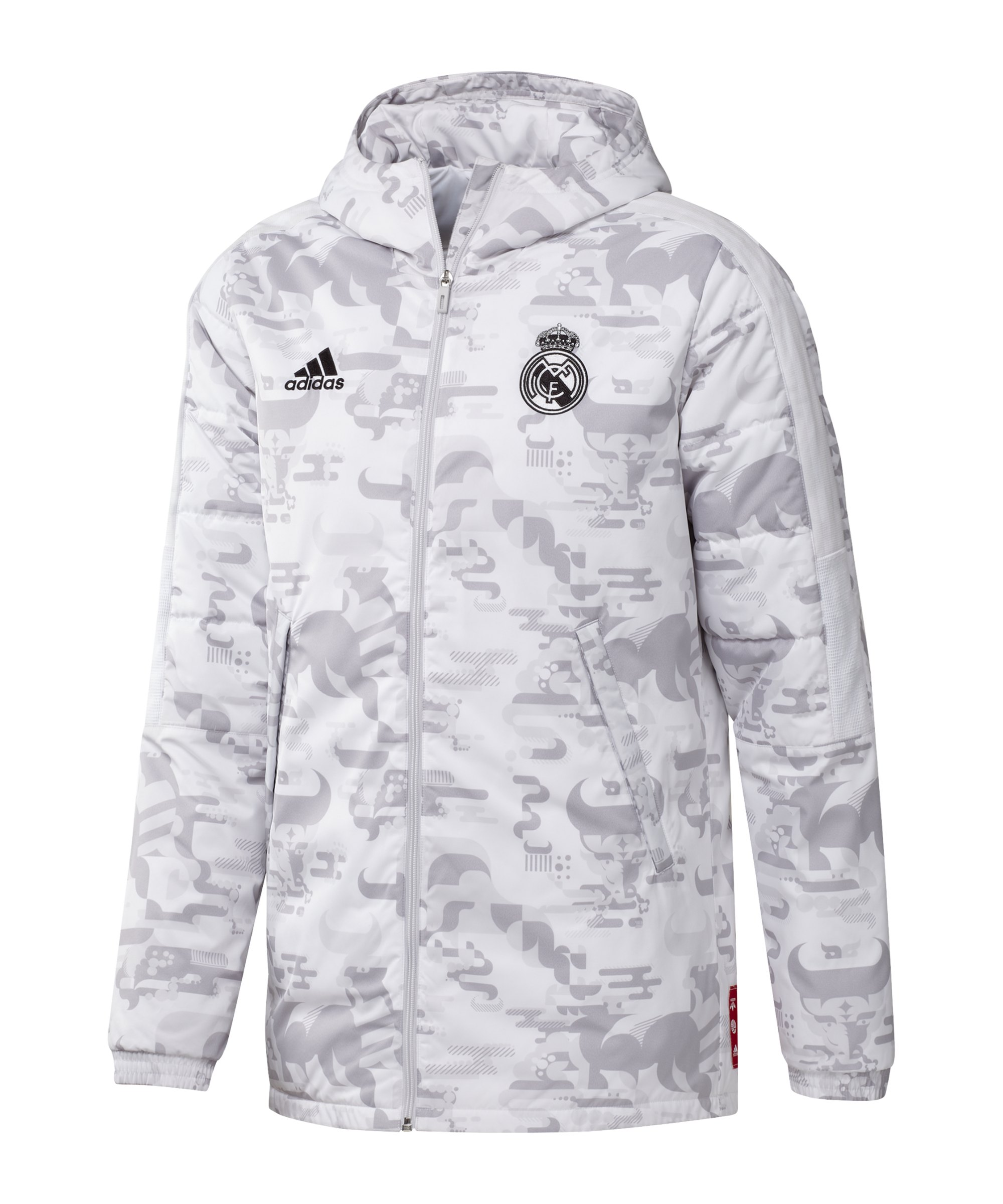 adidas Real Madrid CNY Padded Jacke Weiss - weiss