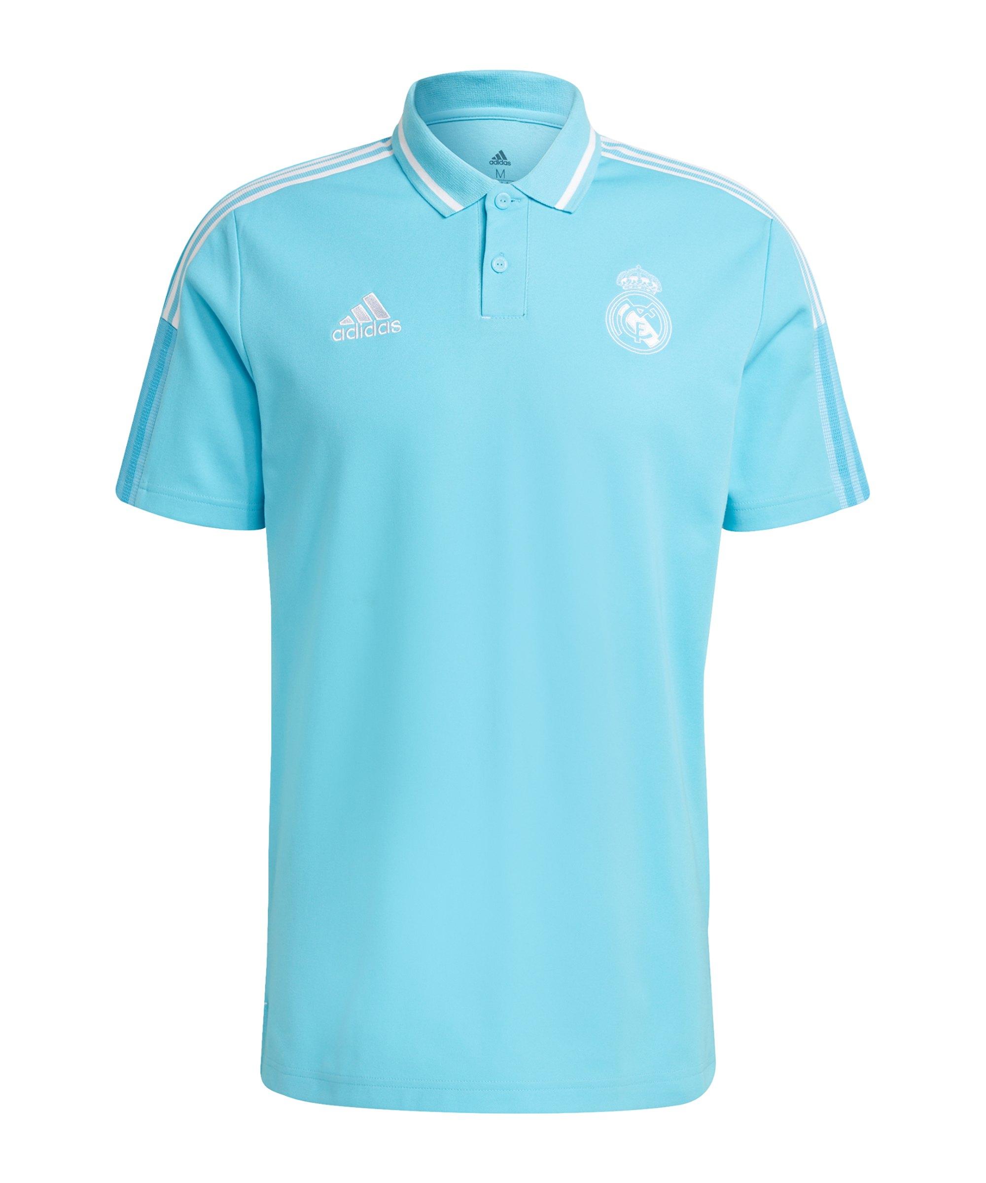 adidas Real Madrid Poloshirt Hellblau - blau