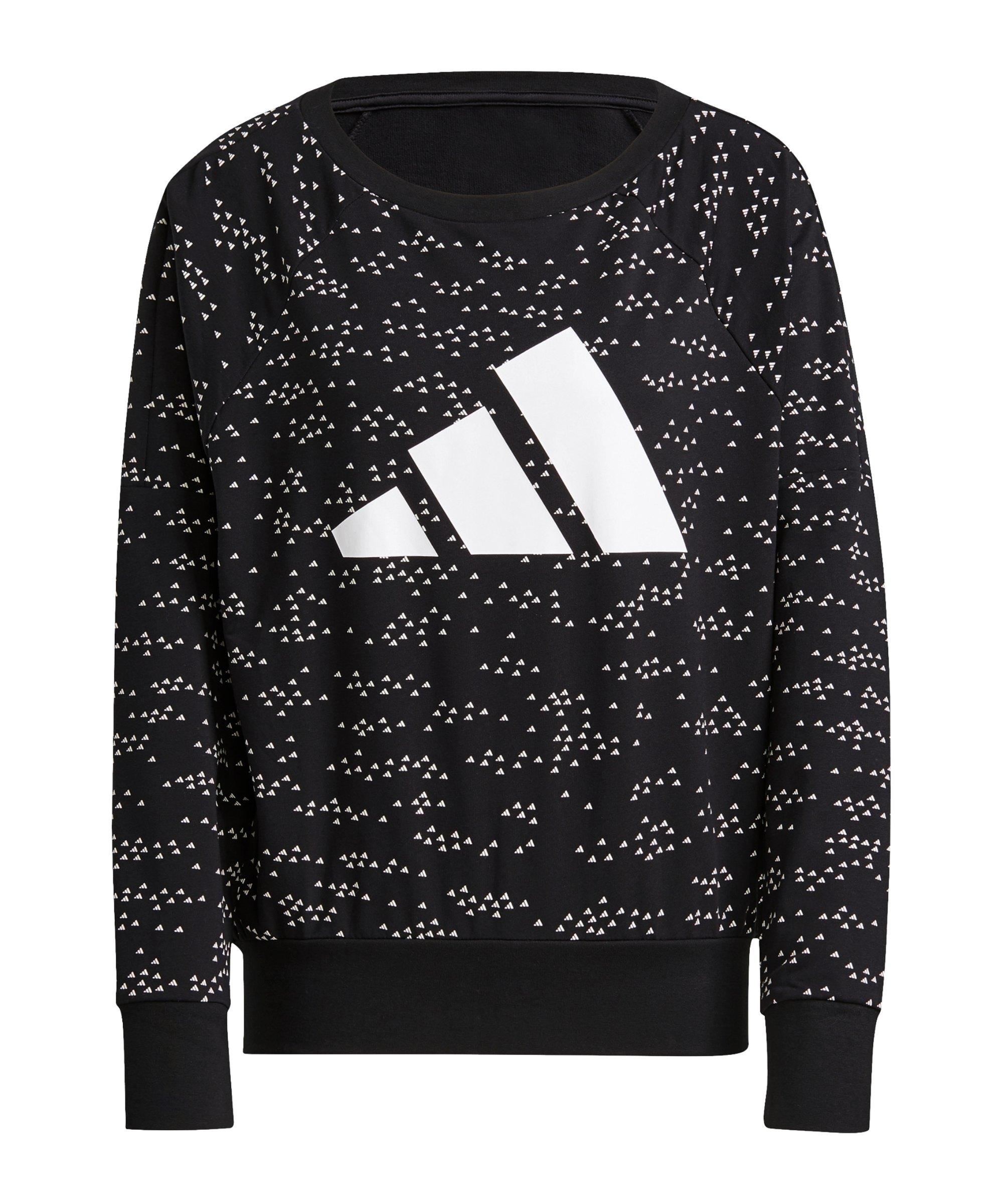 adidas Winners 3 Bar Crew Sweatshirt Damen Schwarz - schwarz