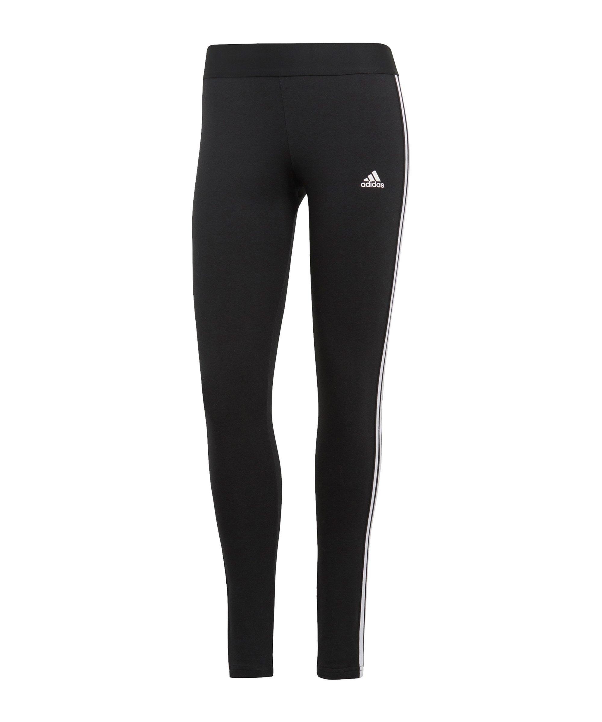 adidas Essentials 3 Stripes Leggings Damen Schwarz - schwarz