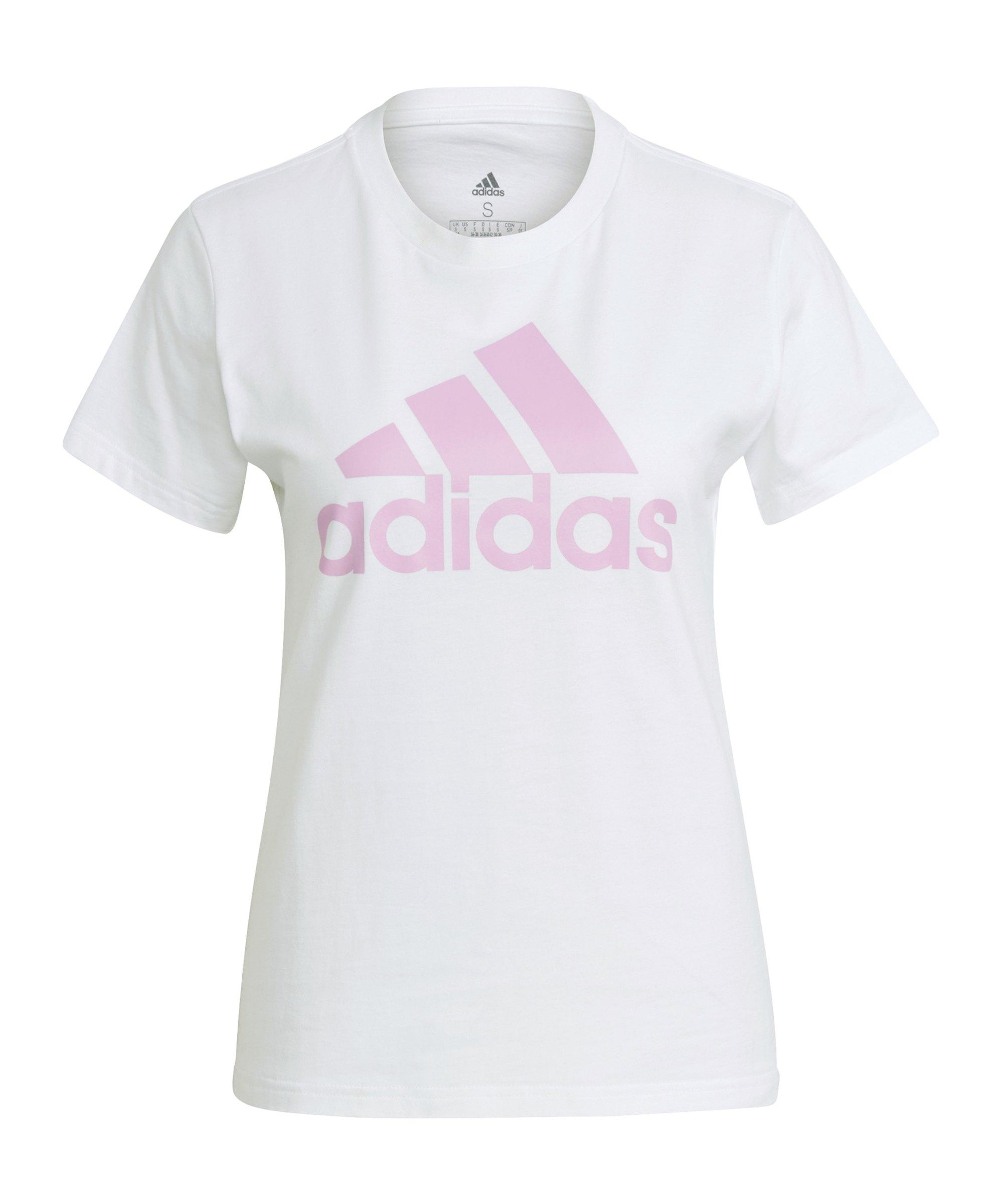 adidas Essentials Regular T-Shirt Damen Weiss Lila - weiss