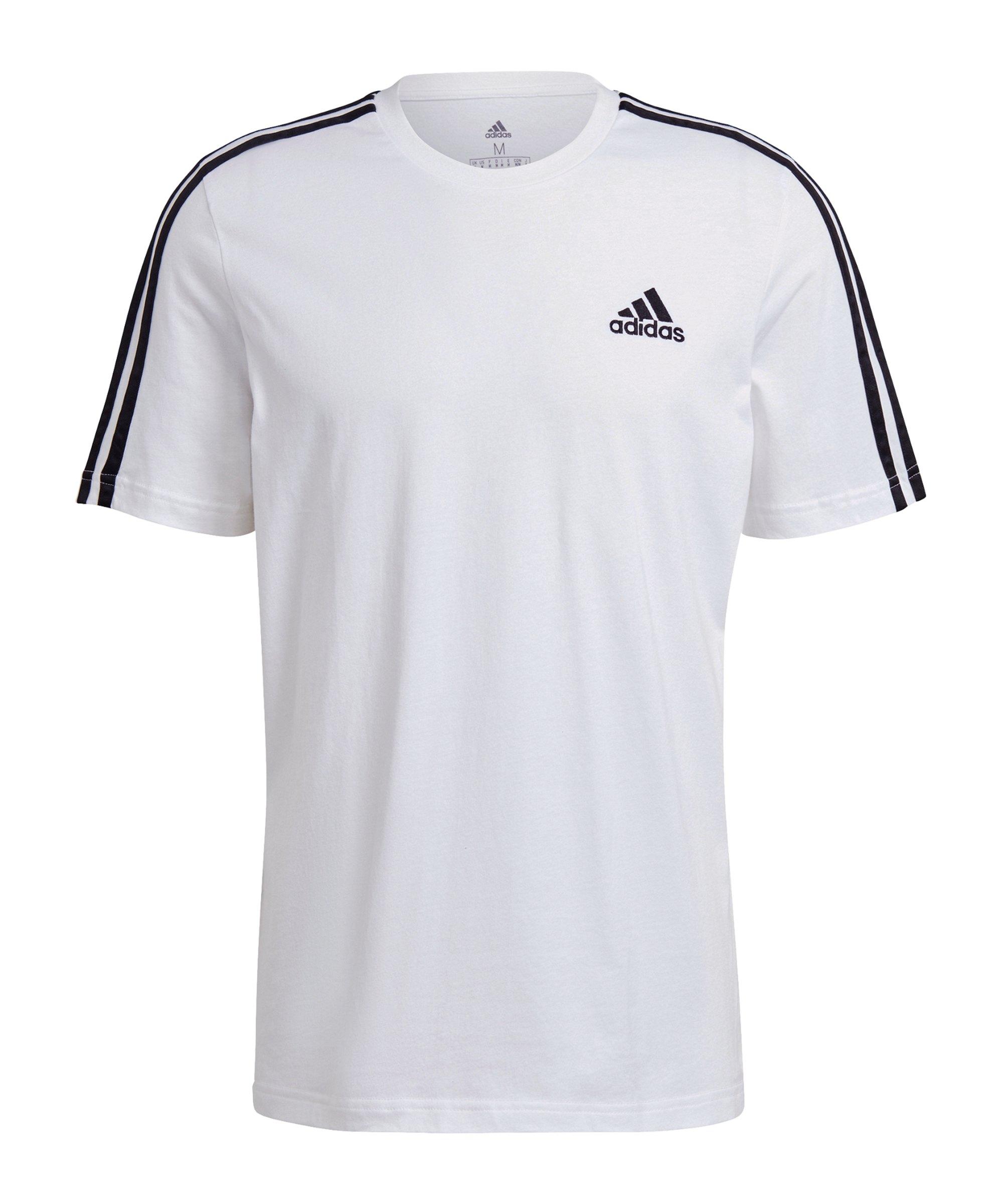 adidas Essentials 3 Stripes T-Shirt Weiss - weiss