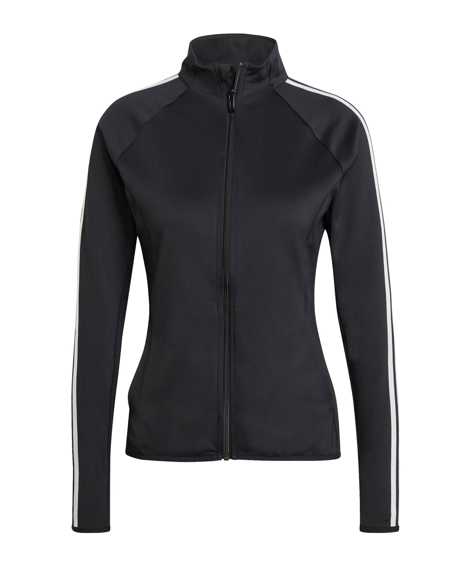 adidas 3S Trainingsjacke Damen Schwarz Weiss - schwarz