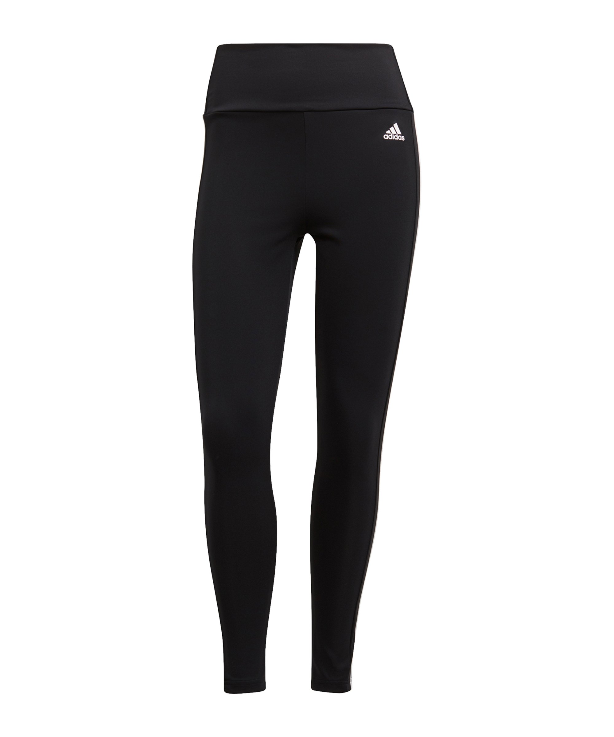 adidas 3S 7/8 Leggings Damen Running Schwarz - schwarz