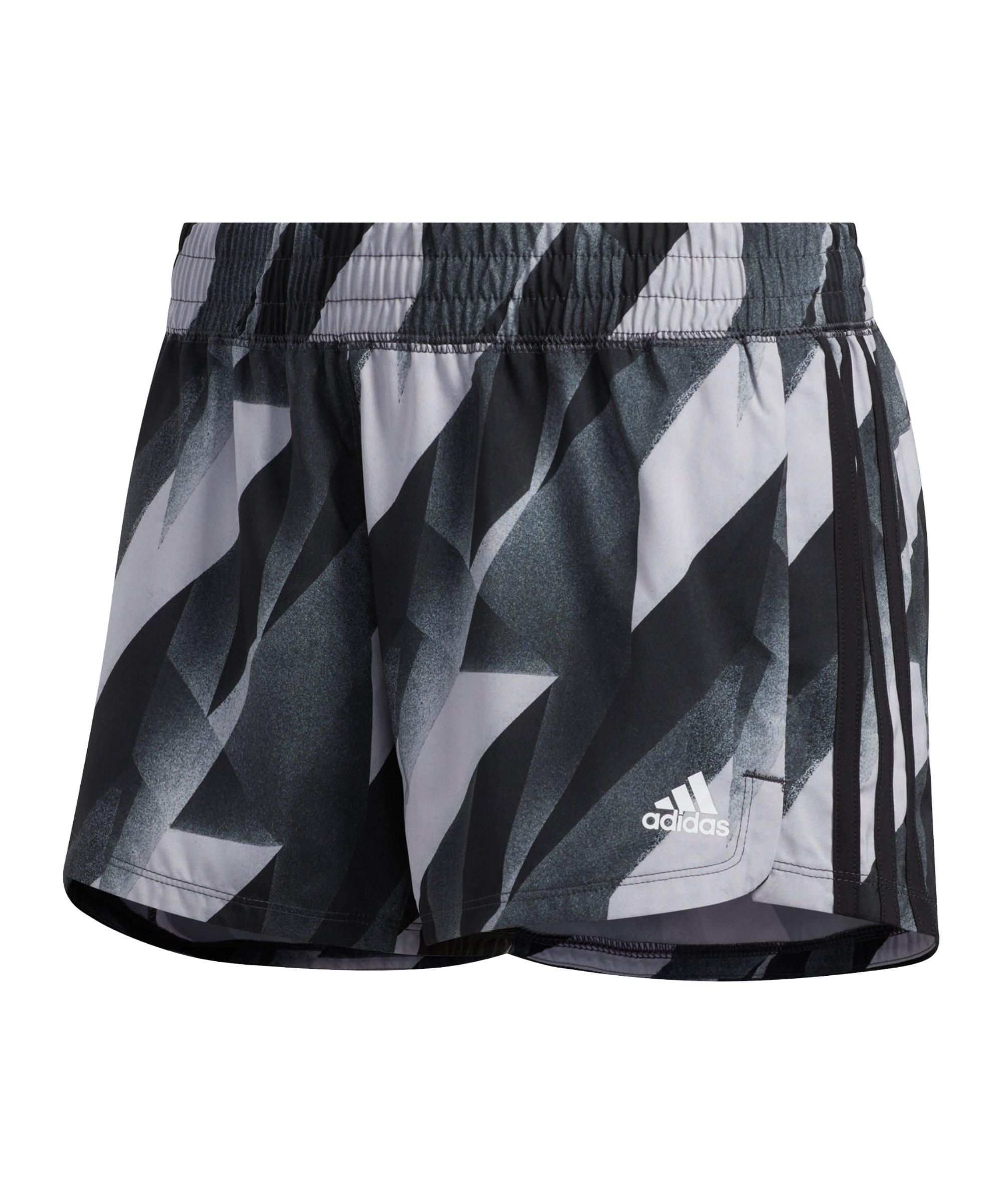 adidas Pacer HTC Short Running Damen Grau Schwarz - grau