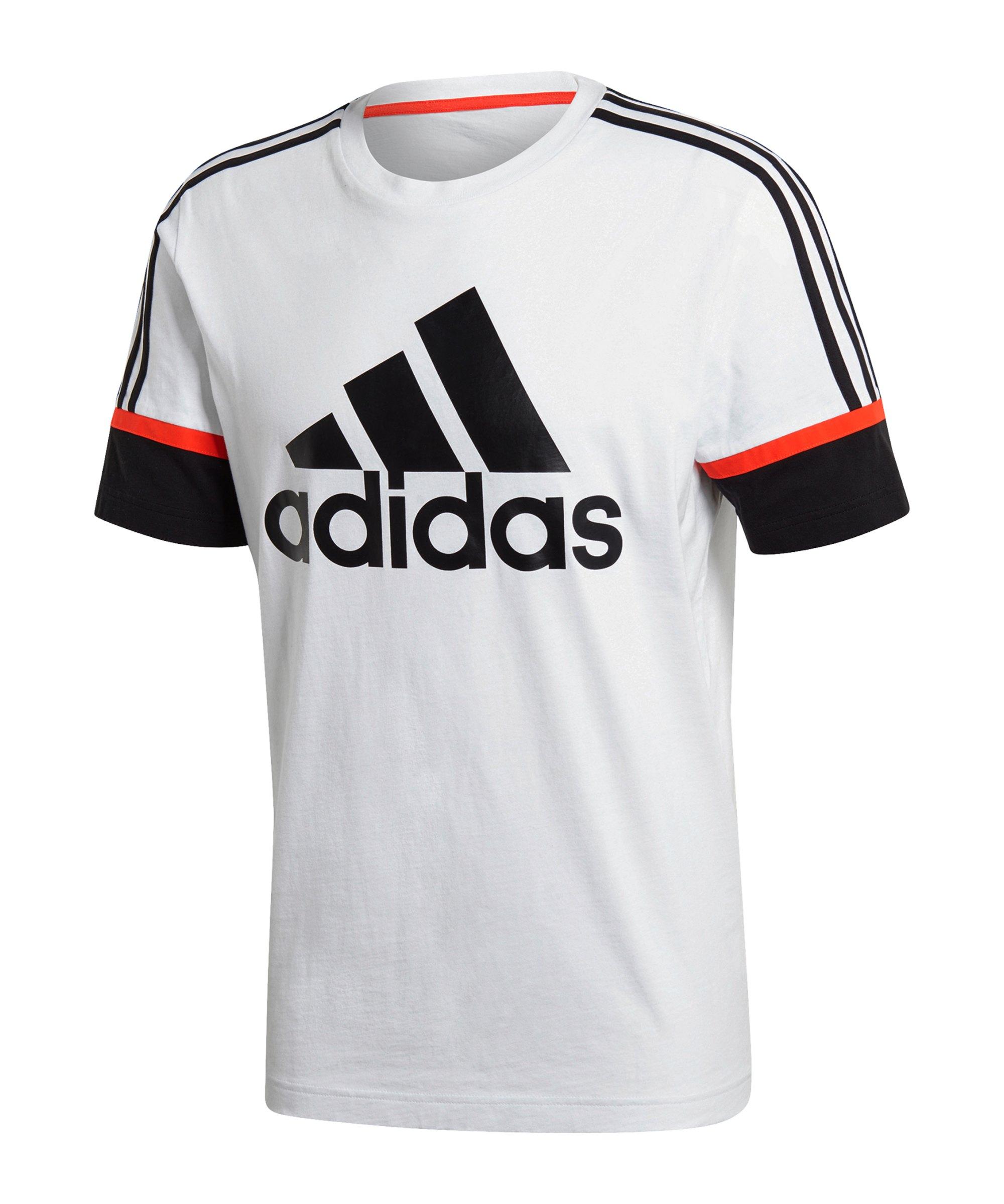 adidas OSR Logo Graphic T-Shirt Weiss Schwarz - weiss