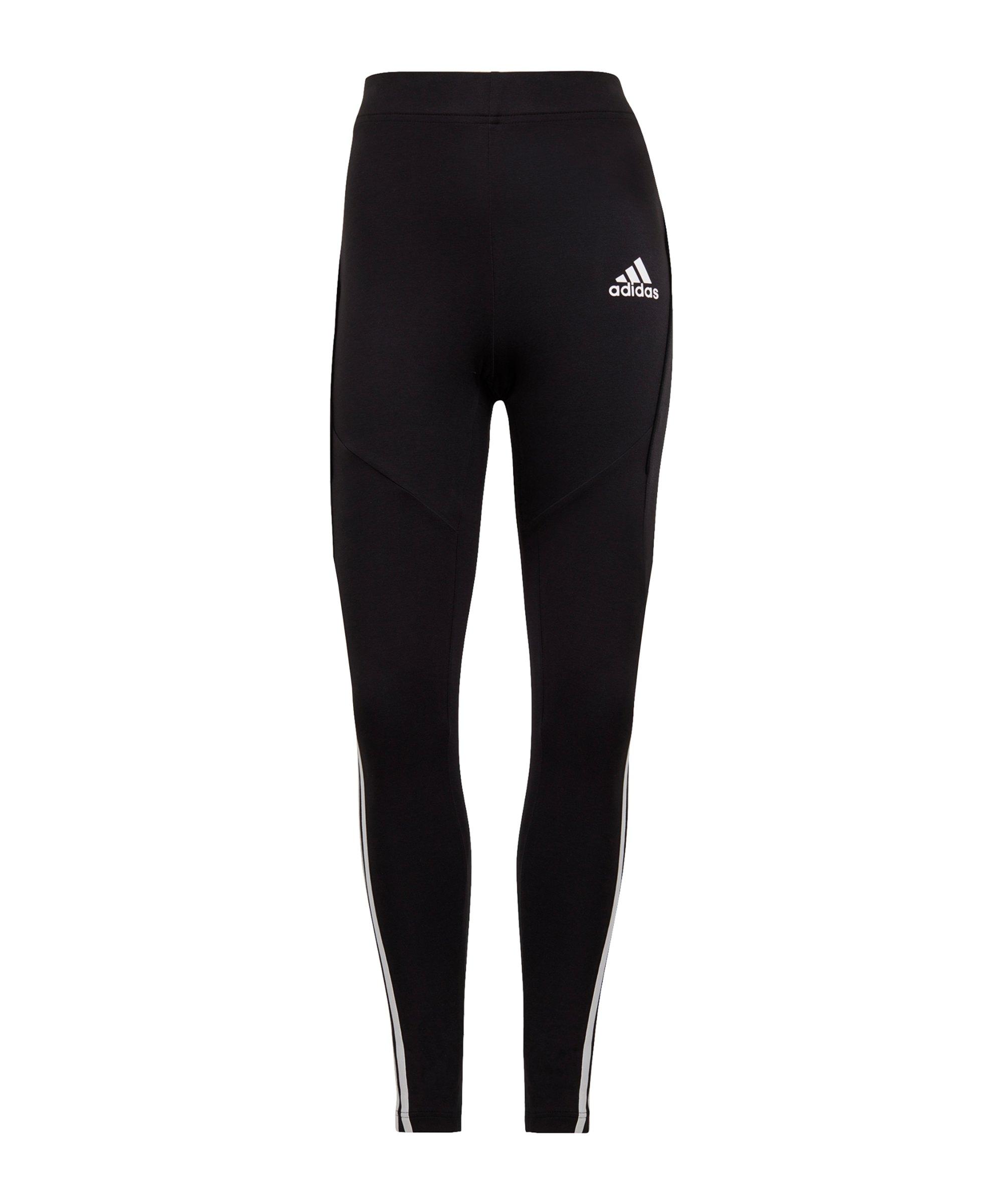 adidas Colorbloked Leggings Damen Schwarz - schwarz