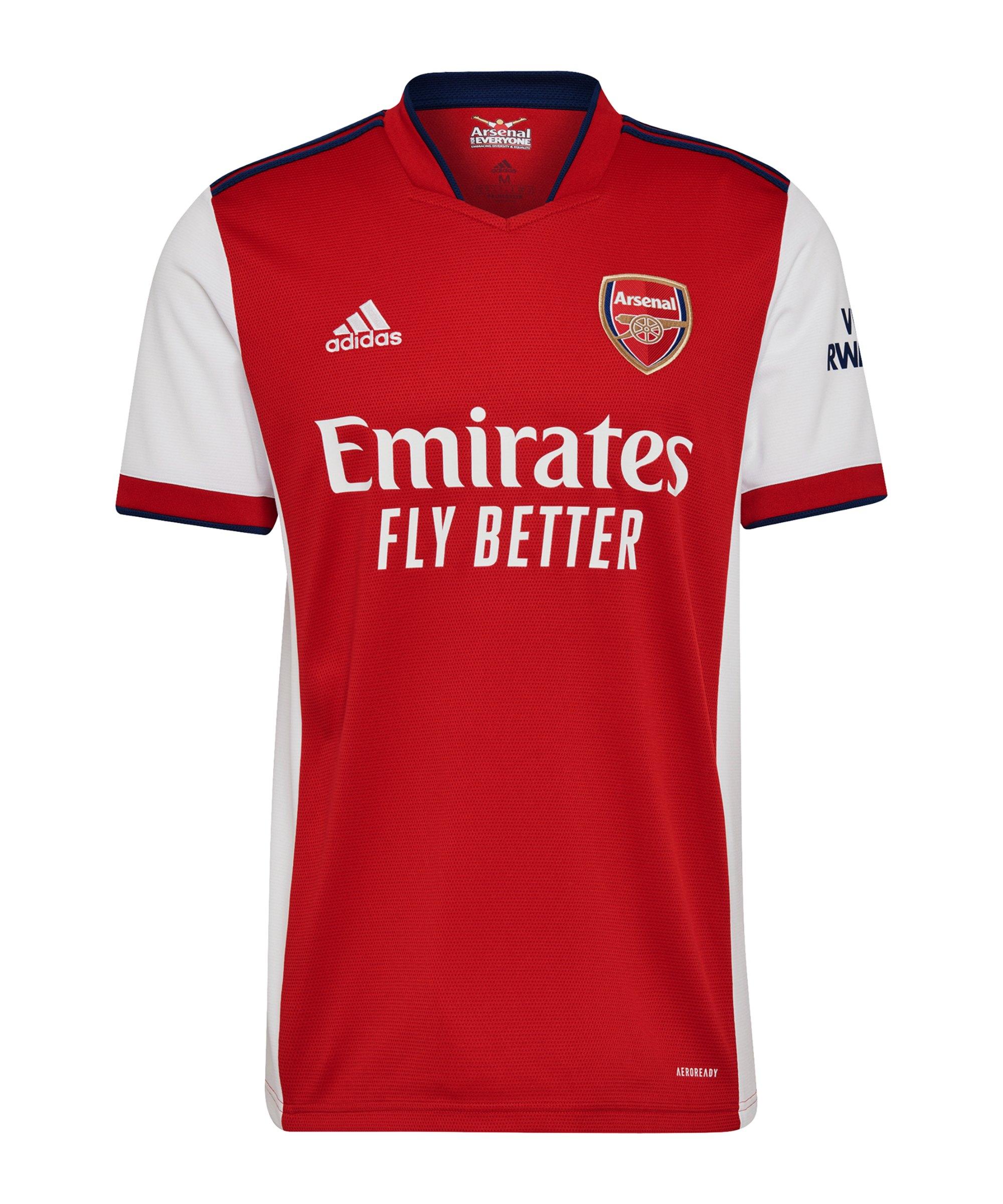 adidas FC Arsenal London Trikot Home 2021/2022 Rot Weiss - weiss