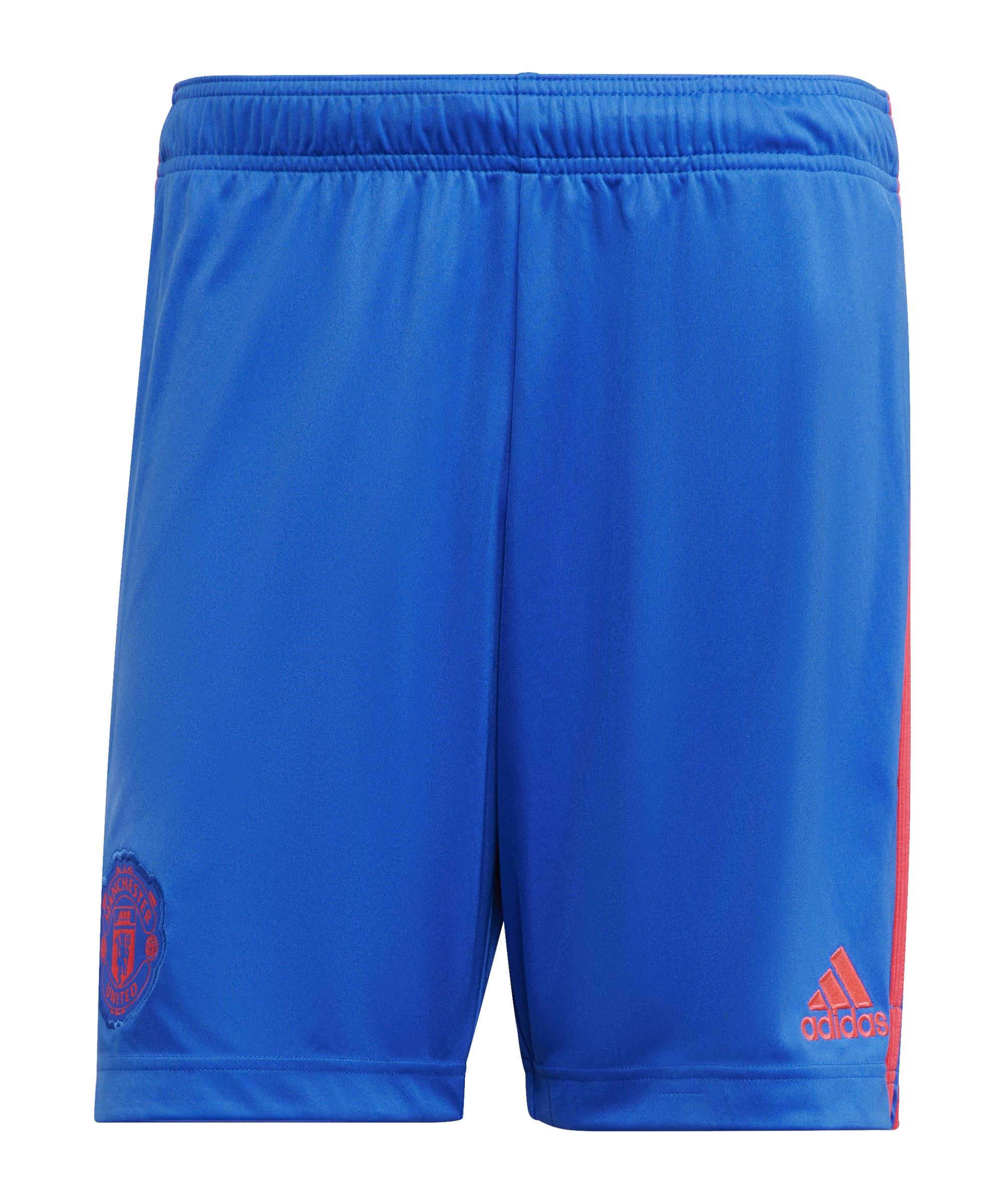 adidas Manchester United Short Away 2021/2022 Blau - blau