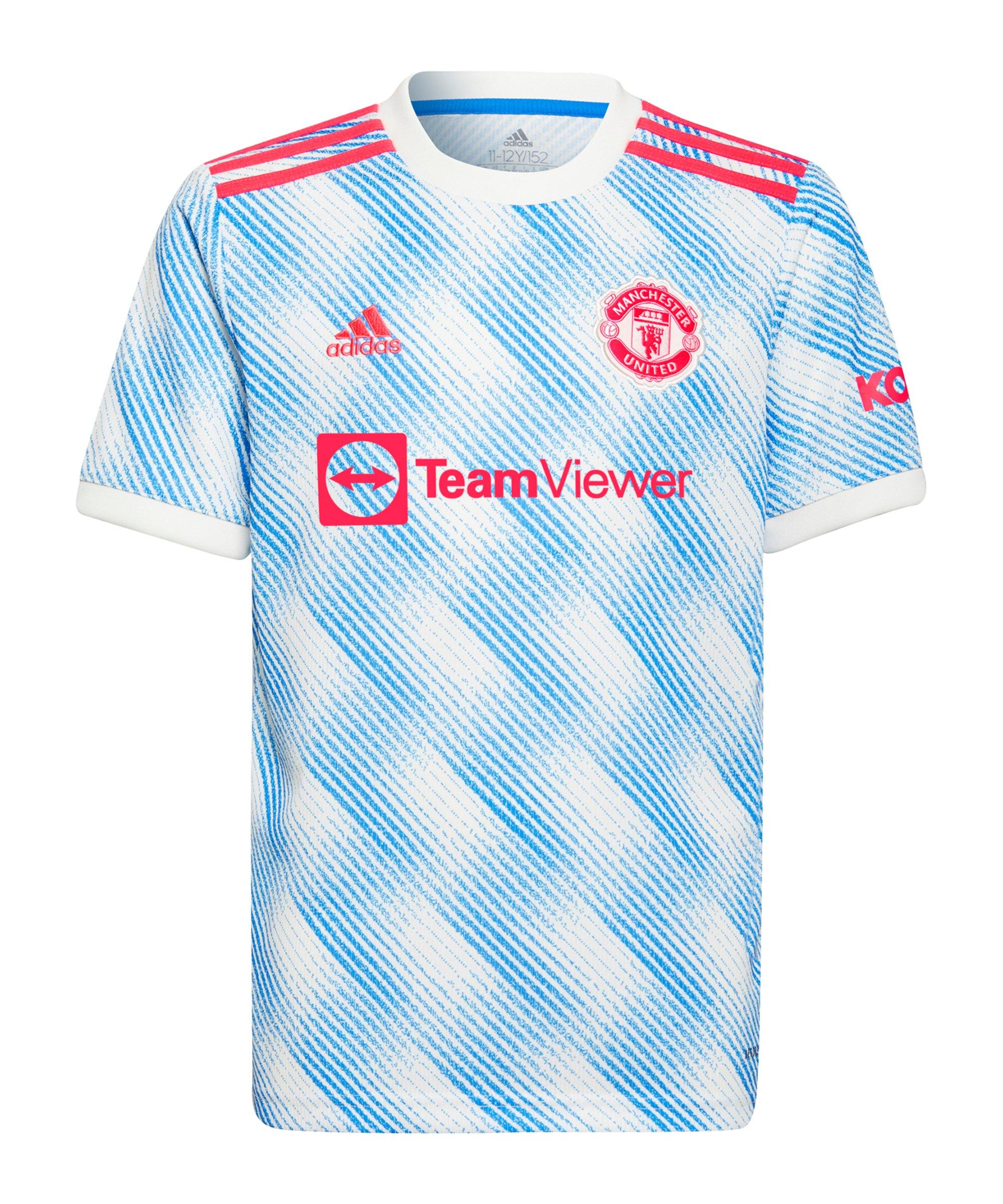 adidas Manchester United Trikot Away 2021/2022 Weiss - weiss